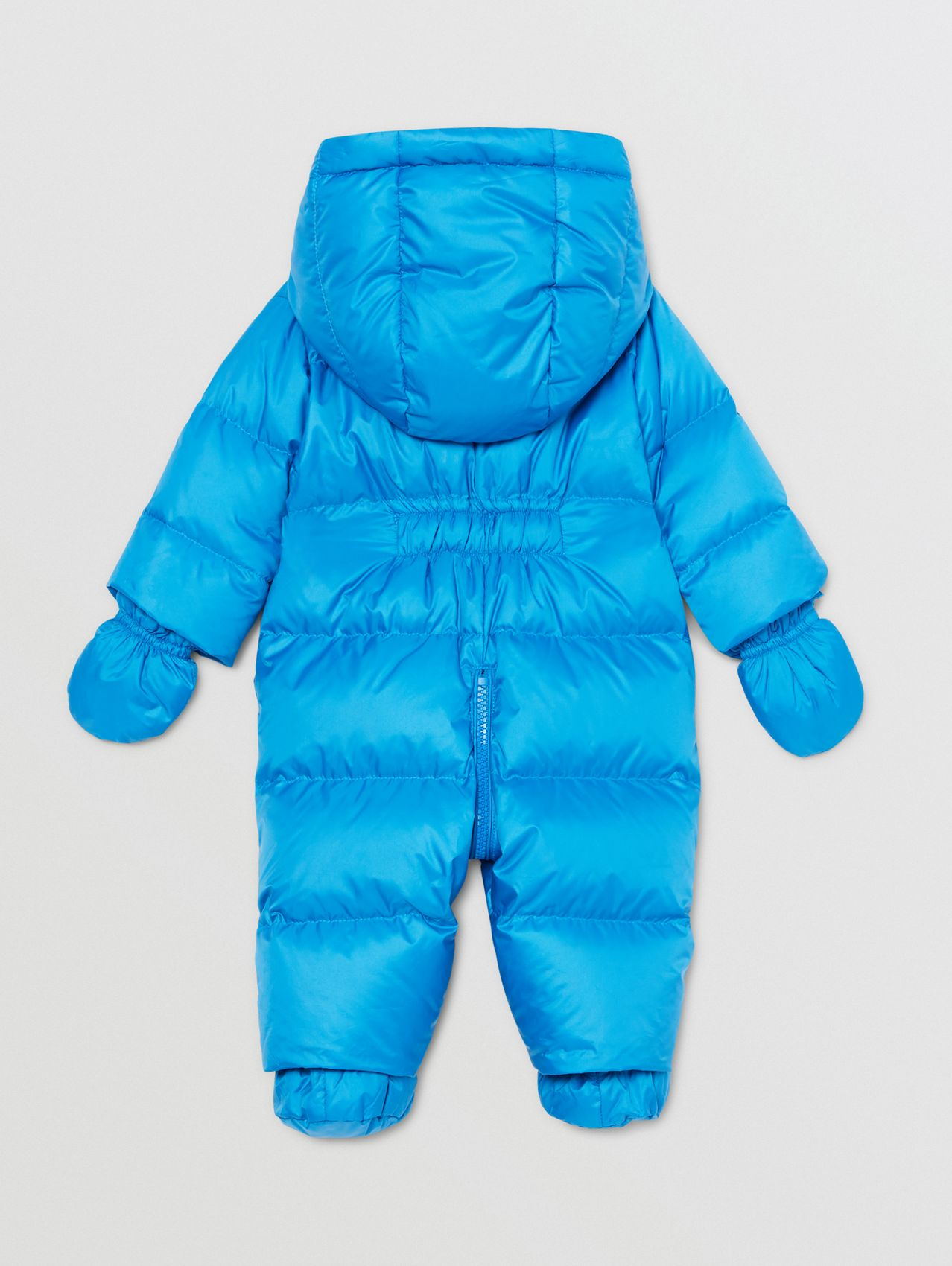 Logo Appliqué Puffer Suit in Cerulean Blue