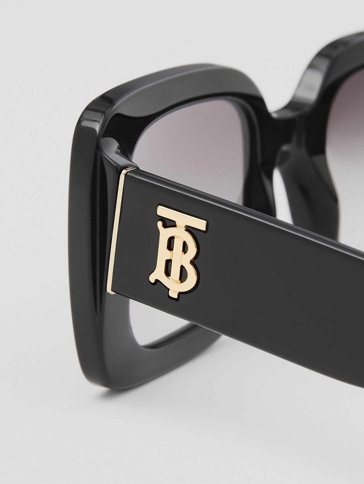 Monogram Motif Square Frame Sunglasses in Black