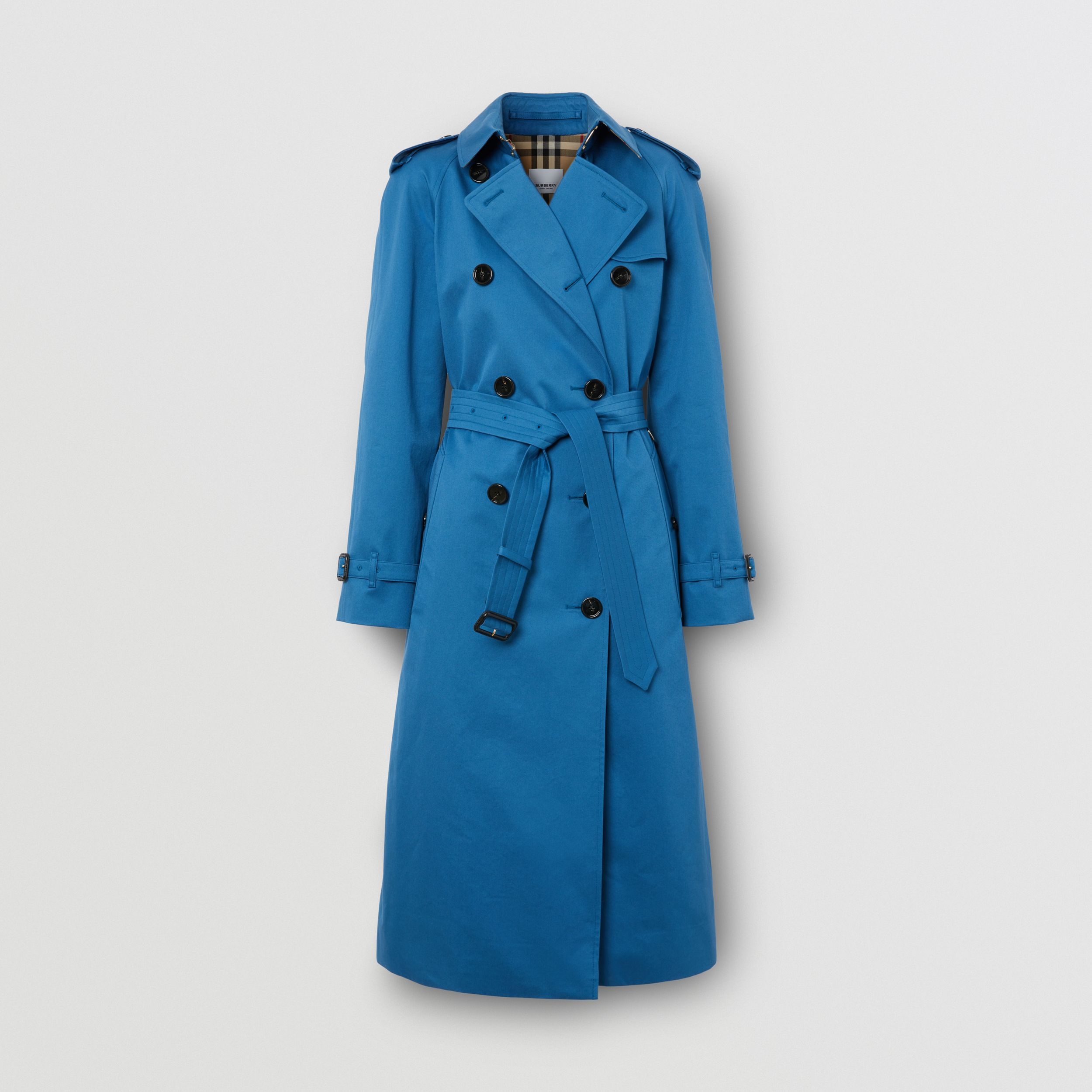 Trench coat in gabardine di cotone (Blu Ceruleo Scuro) - Donna | Burberry - 4