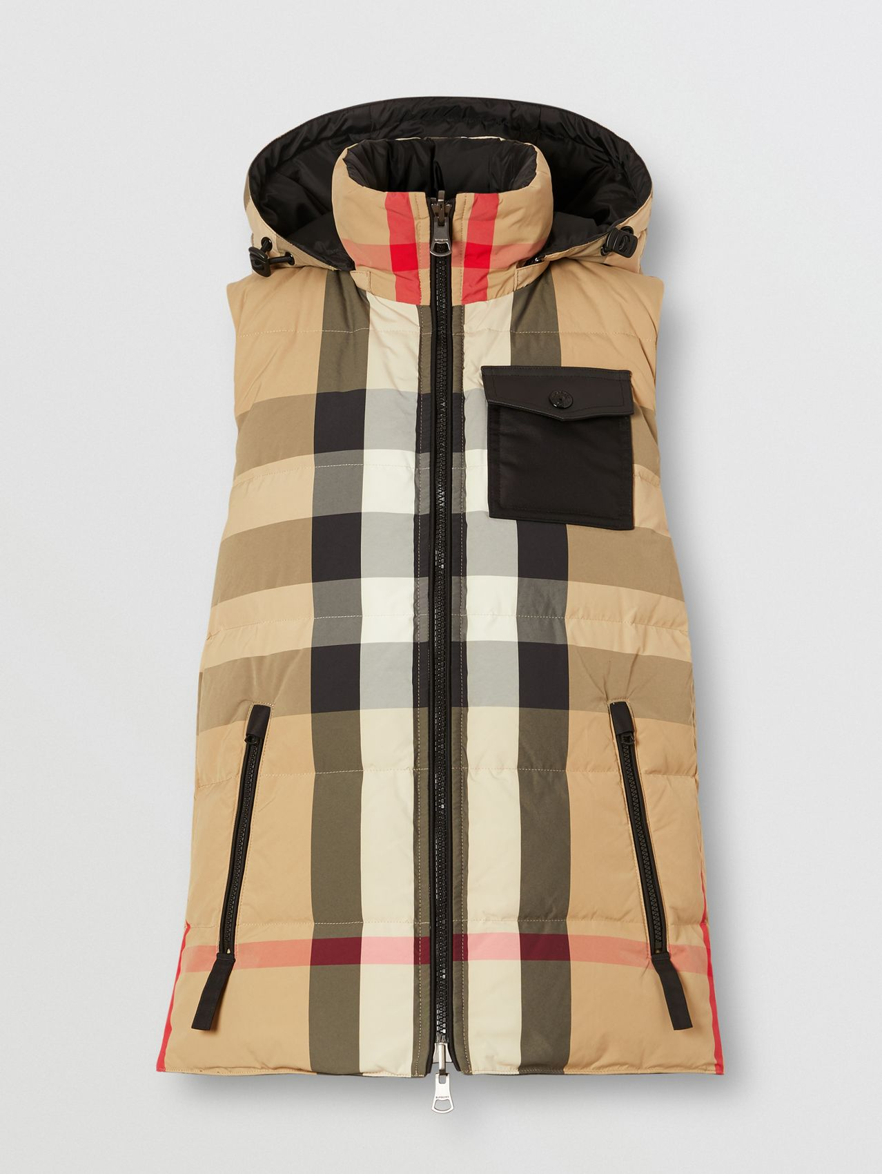 Reversible Recycled Nylon Re:Down® Puffer Gilet in Archive Beige
