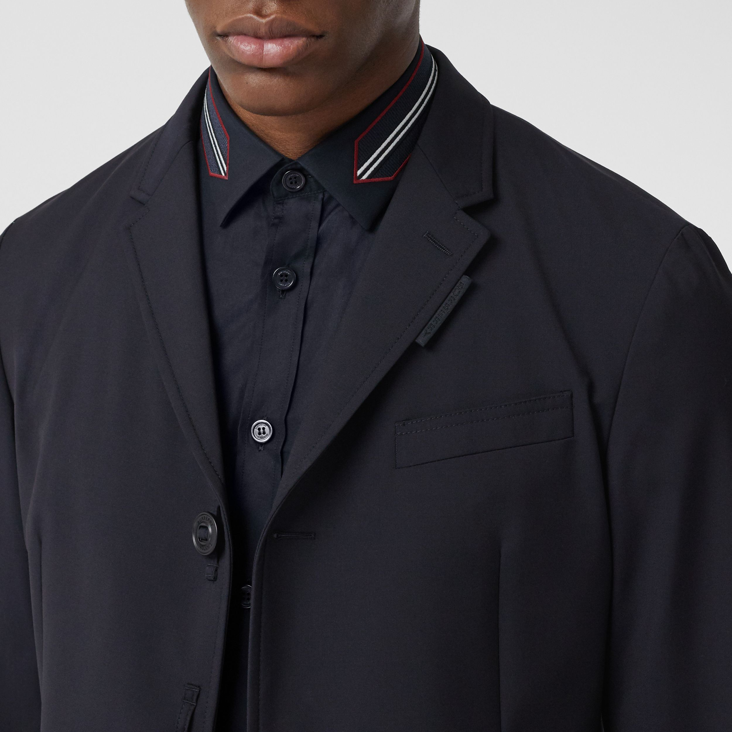 Bonded Wool Tailored Jacket in Navy - Men | Burberry Hong Kong S.A.R. - 2