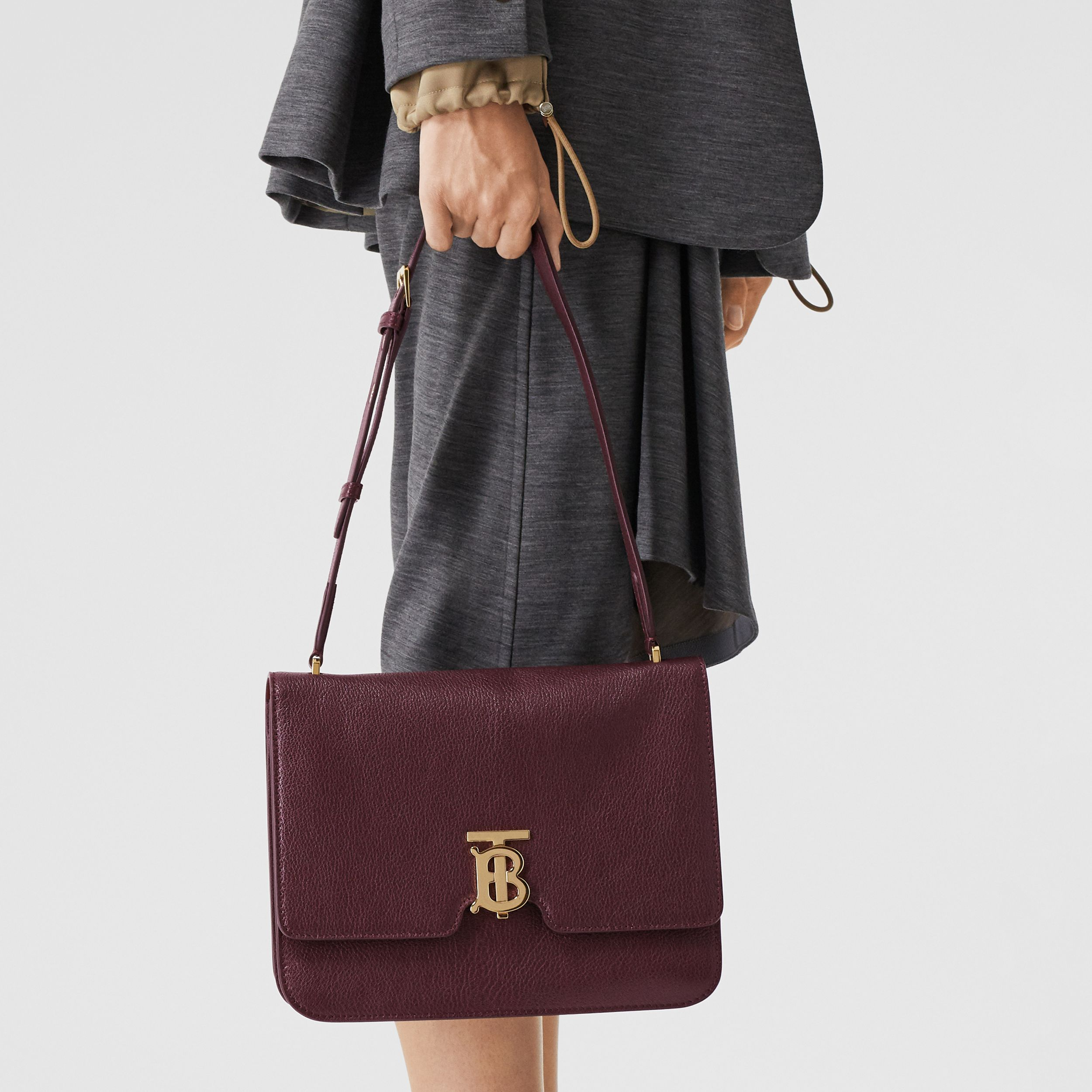 Medium Grainy Leather Alice Bag in Deep Claret - Women | Burberry - 3