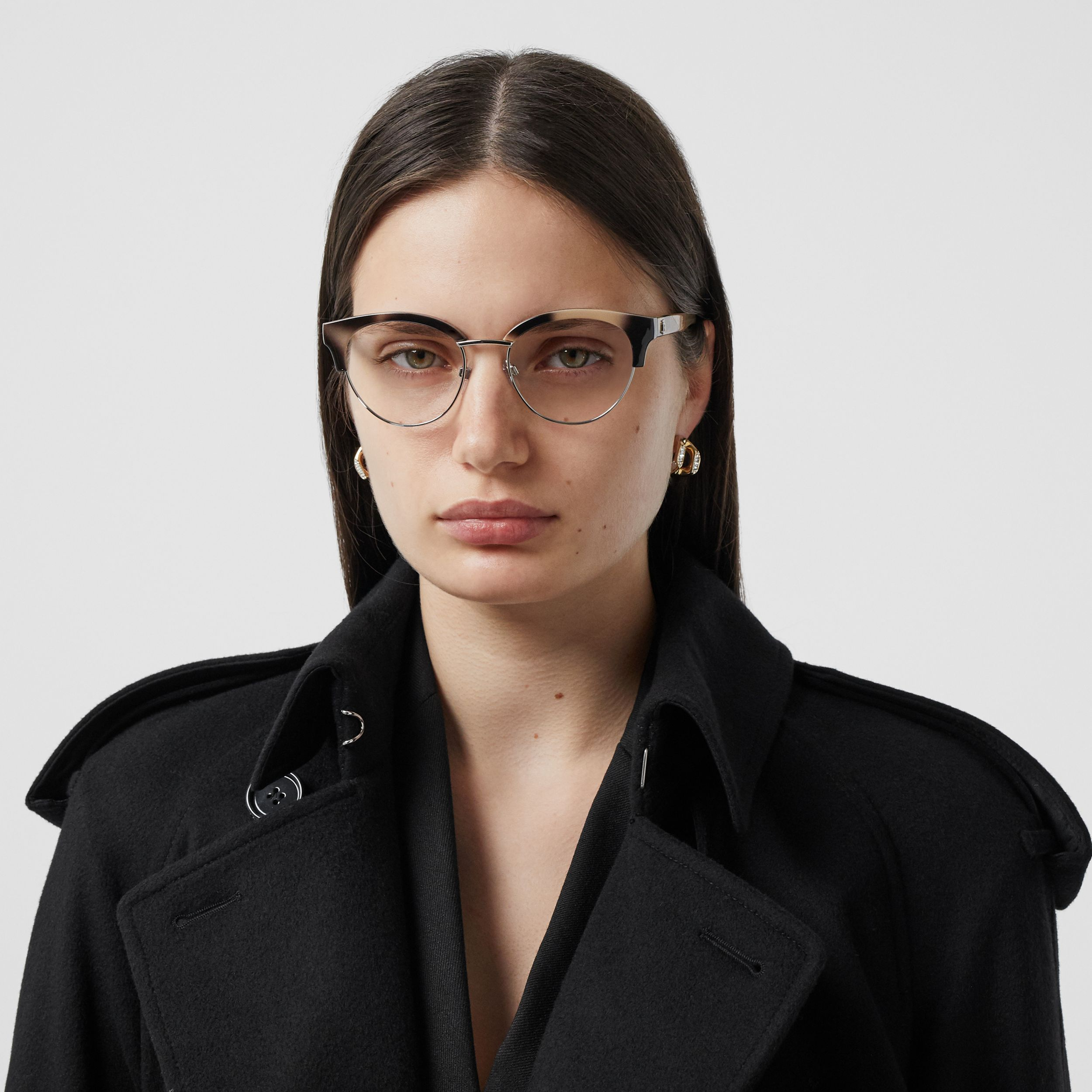 Cat-eye Optical Frames in Bright Tortoiseshell - Women | Burberry - 3