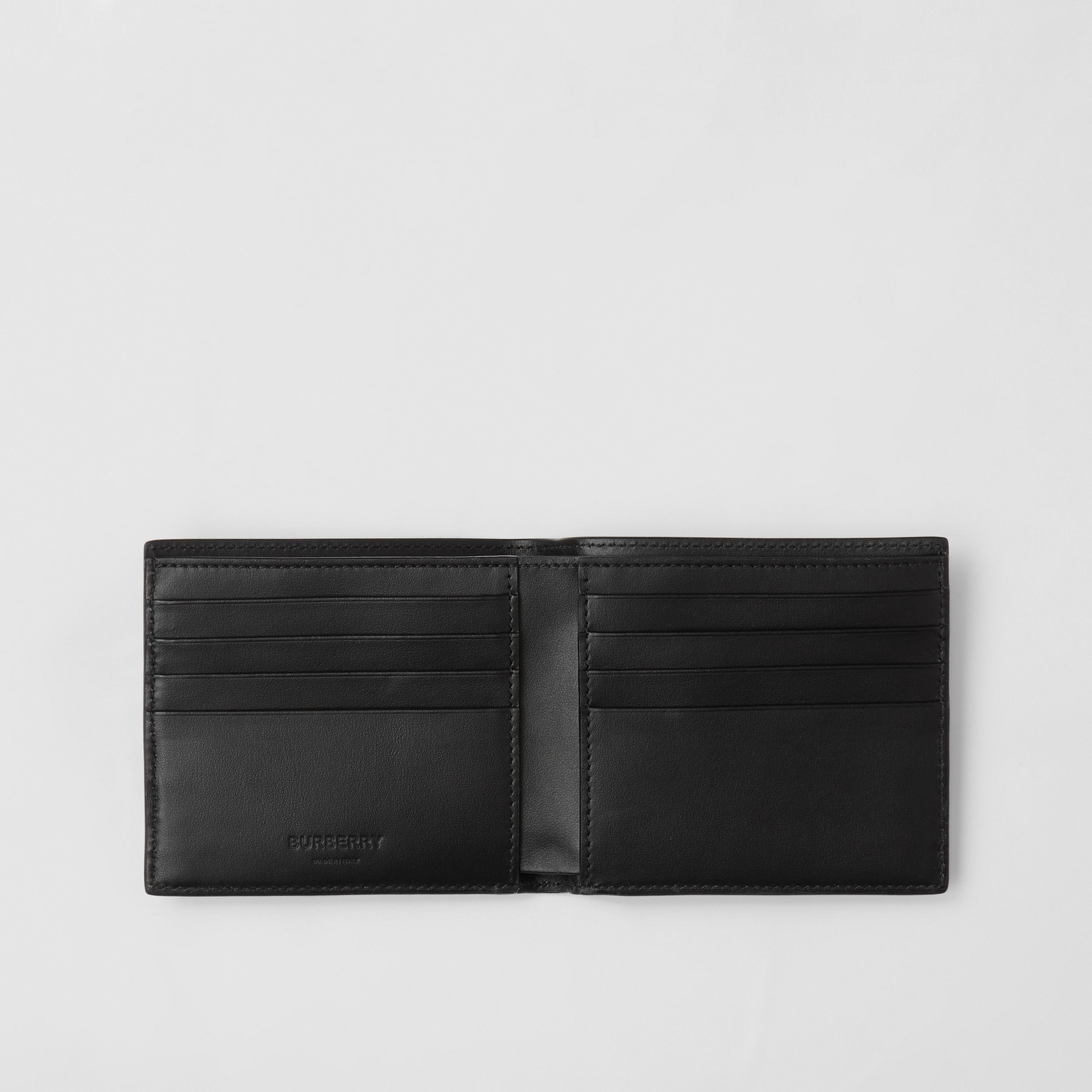 Horseferry Print Leather International Bifold Wallet in Black - Men | Burberry - 3