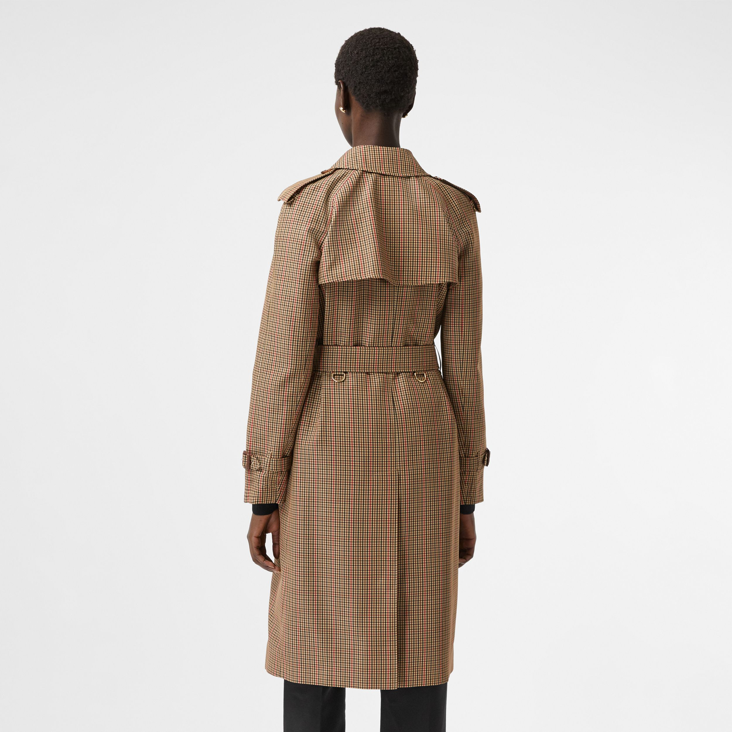 Check Recycled Polyester Trench Coat in Brown - Women | Burberry - 3