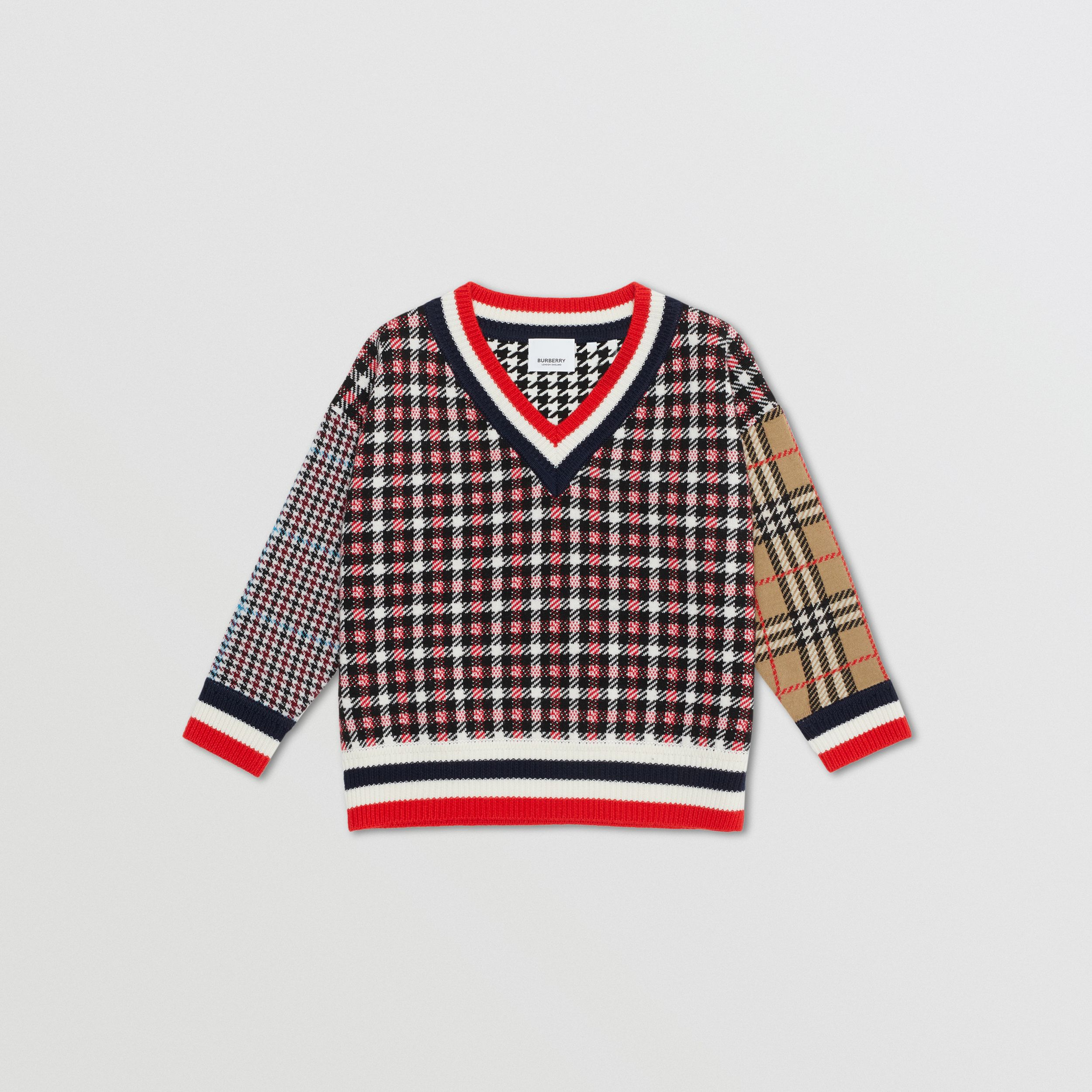 Patchwork Check Merino Wool Sweater | Burberry United States - 1