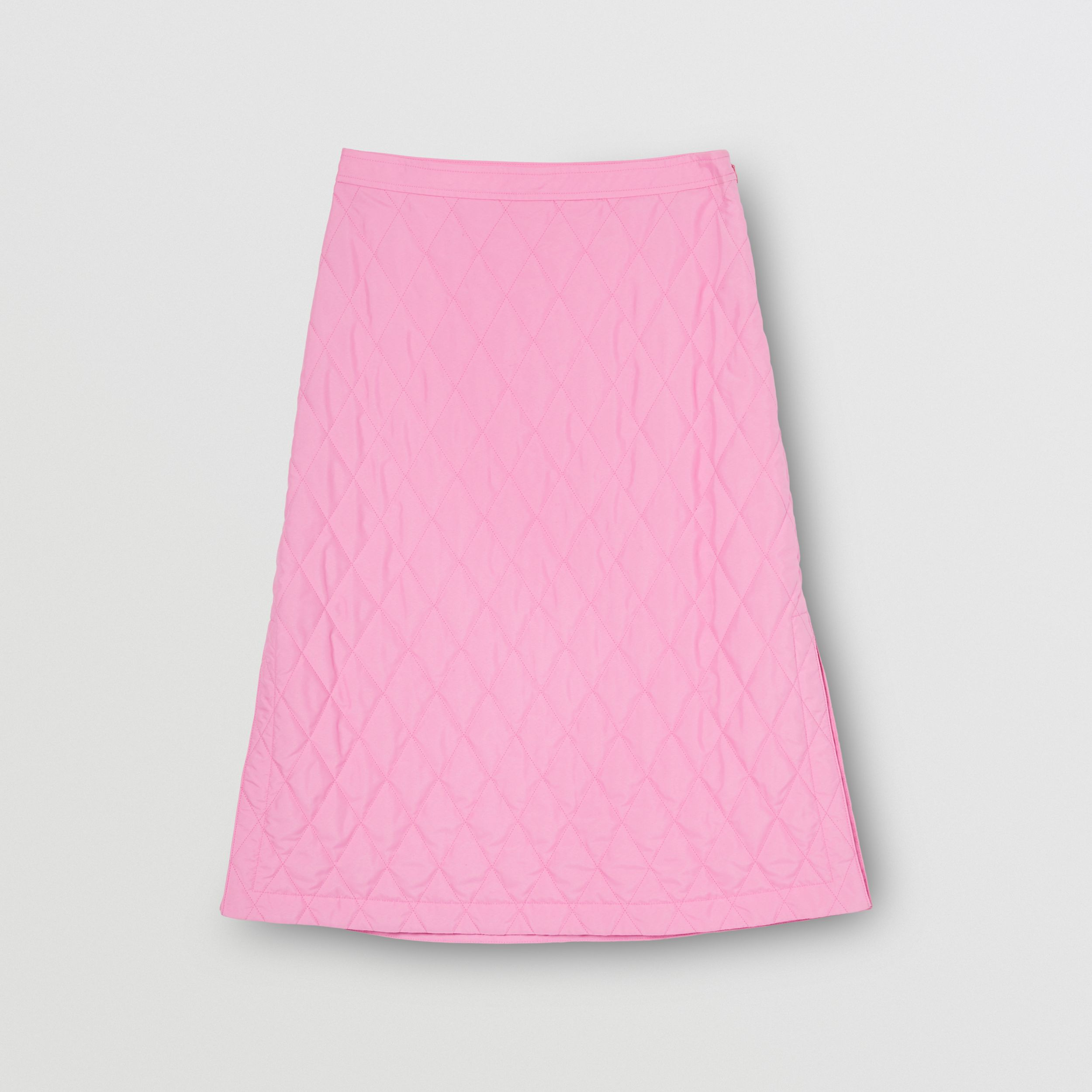 Diamond Quilted Skirt in Bubblegum Pink - Women | Burberry - 4