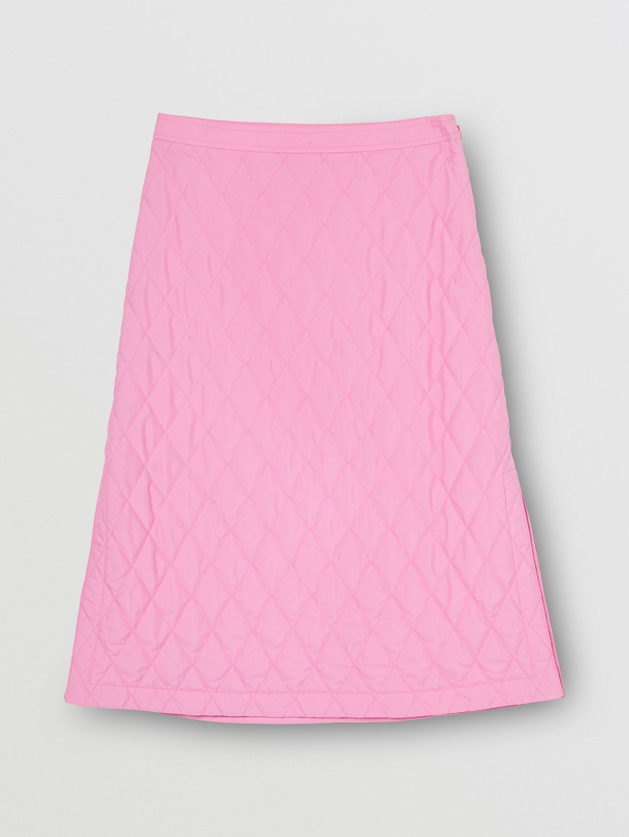 Diamond Quilted Skirt in Bubblegum Pink
