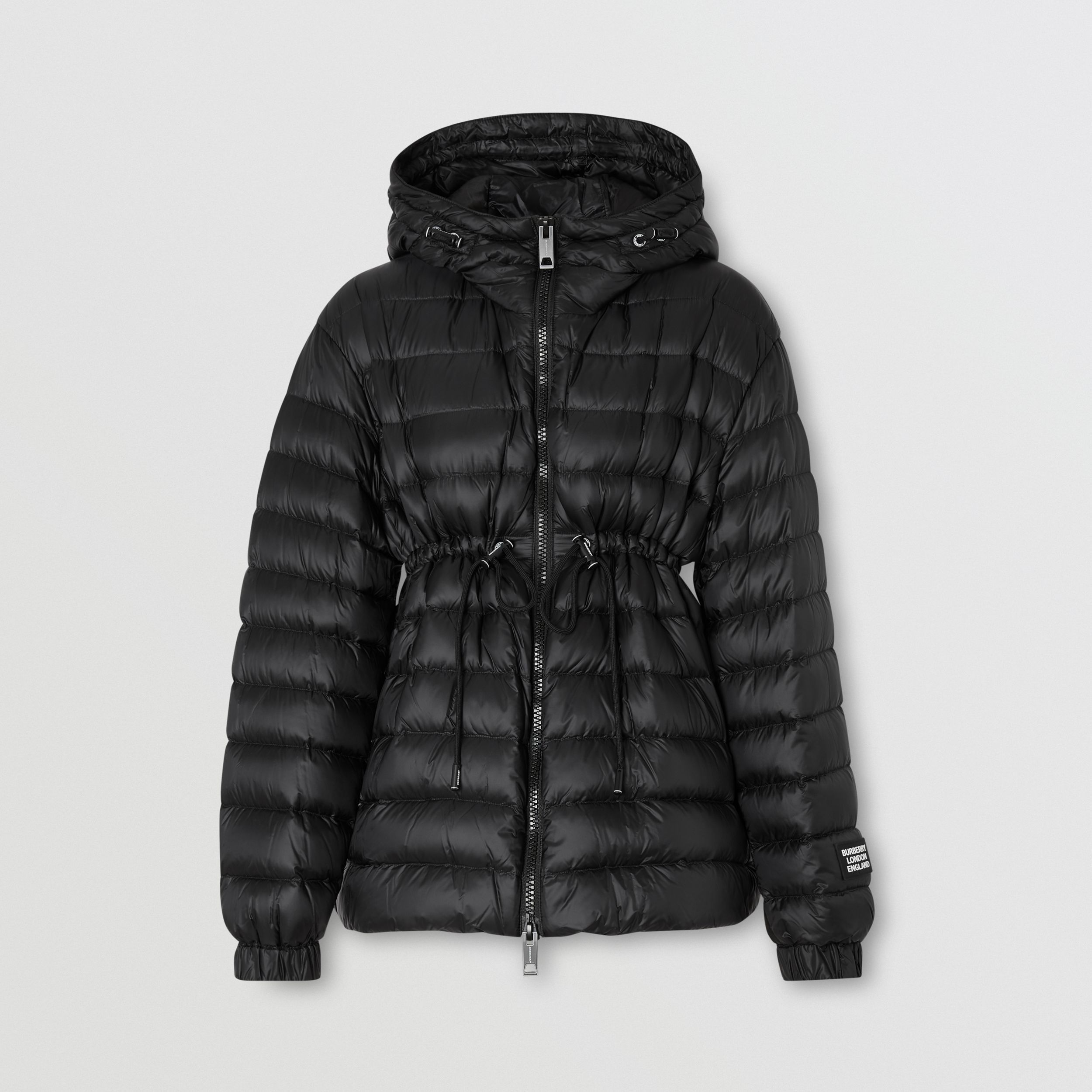Lightweight Hooded Puffer Jacket in Black - Women | Burberry - 3