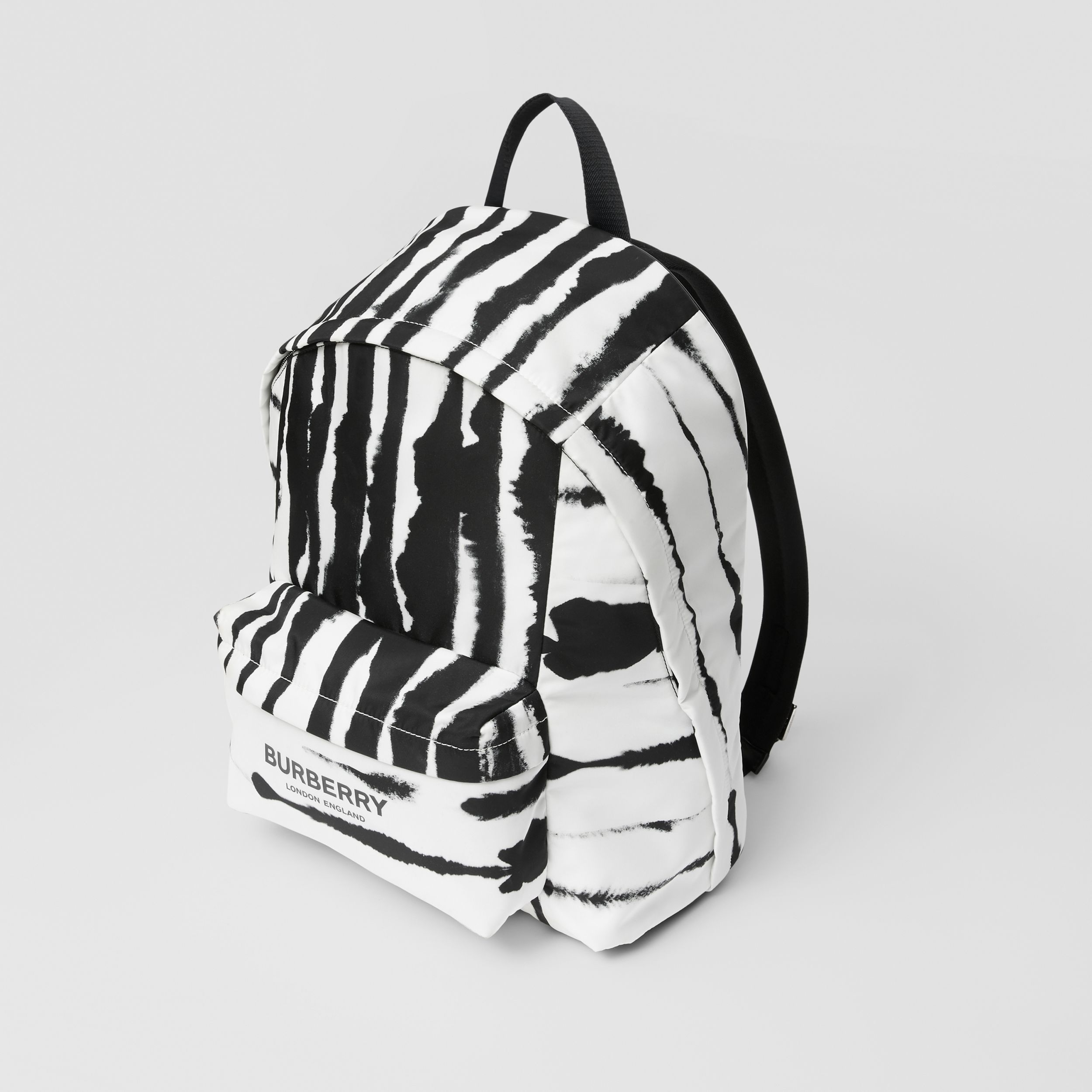 Watercolour Print ECONYL® Backpack in Black/white | Burberry - 4