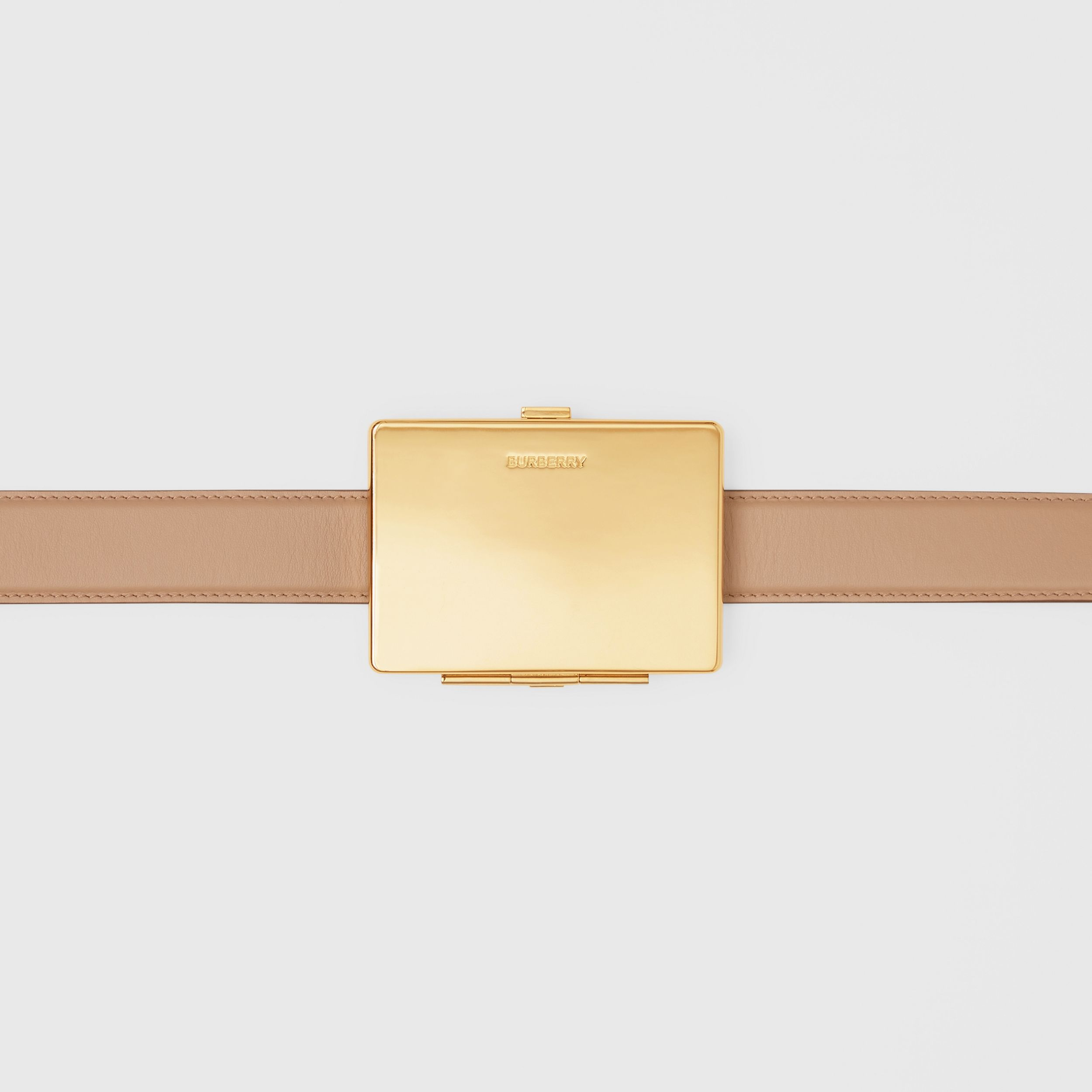 Card Case Detail Leather Belt in Biscuit - Women | Burberry - 2