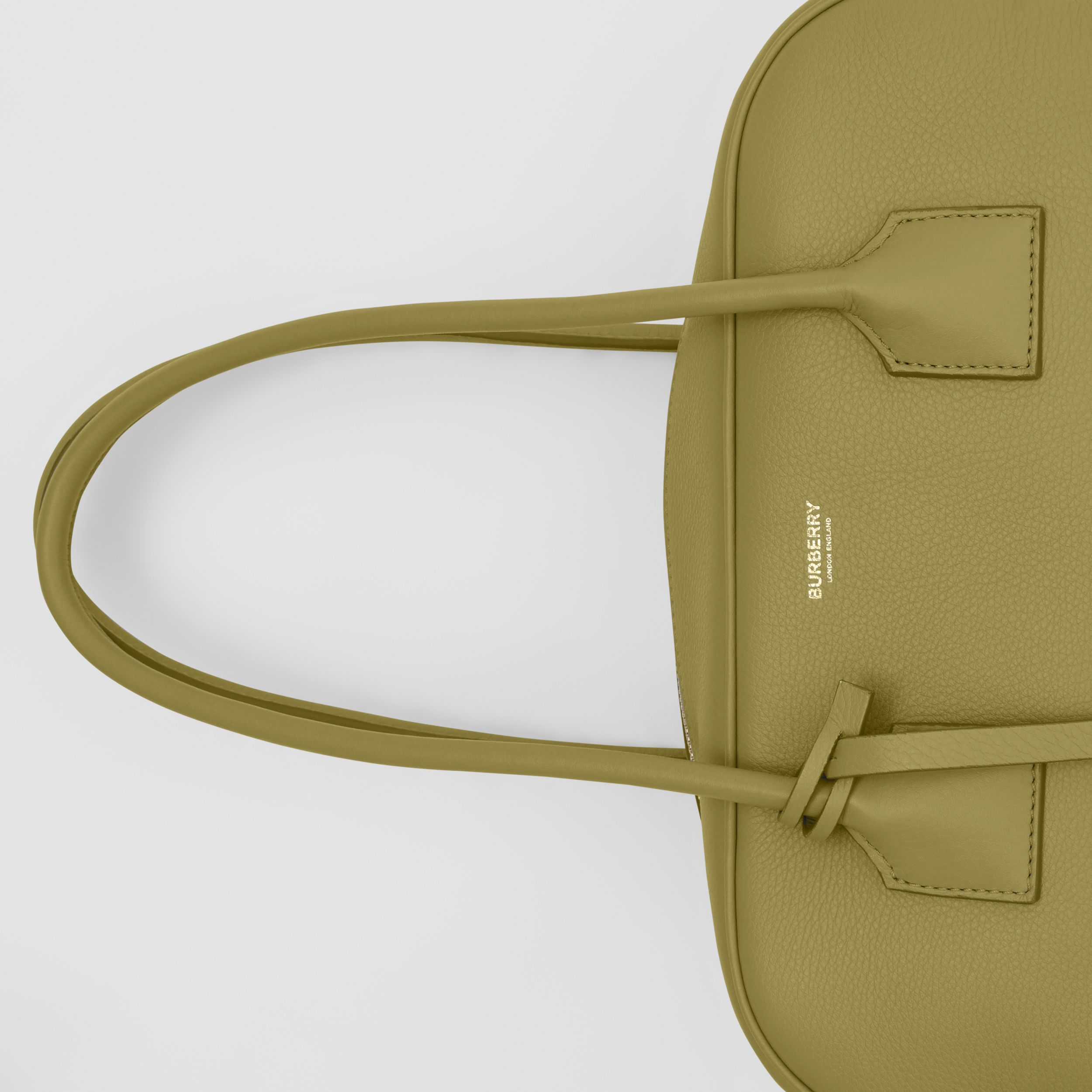 Medium Leather Half Cube Bag in Juniper Green - Women | Burberry - 2