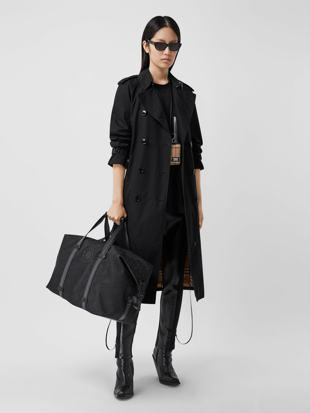 Trench coat Heritage Waterloo largo (Negro)