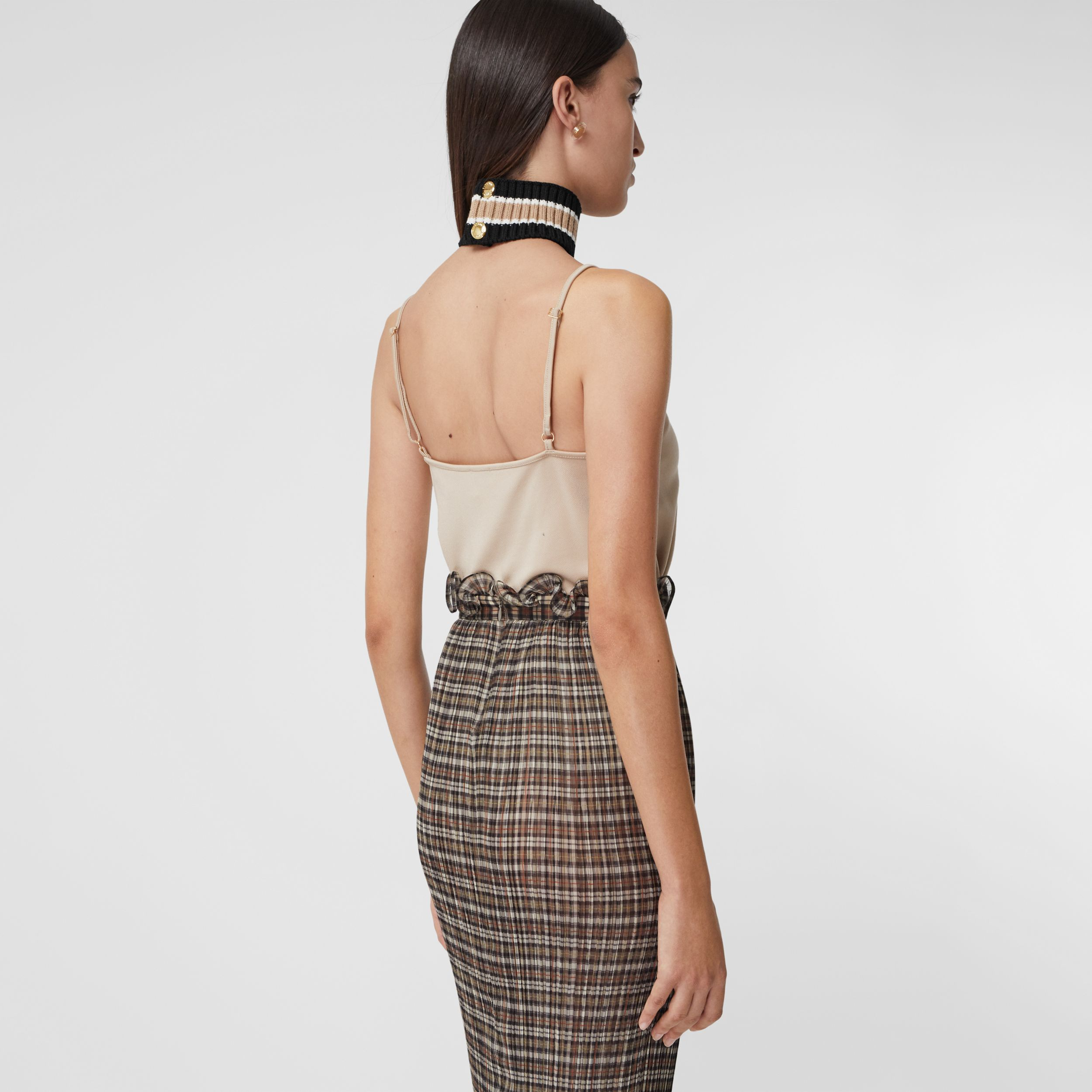 Monogram Motif Stretch Jersey Camisole in Soft Fawn - Women | Burberry - 3