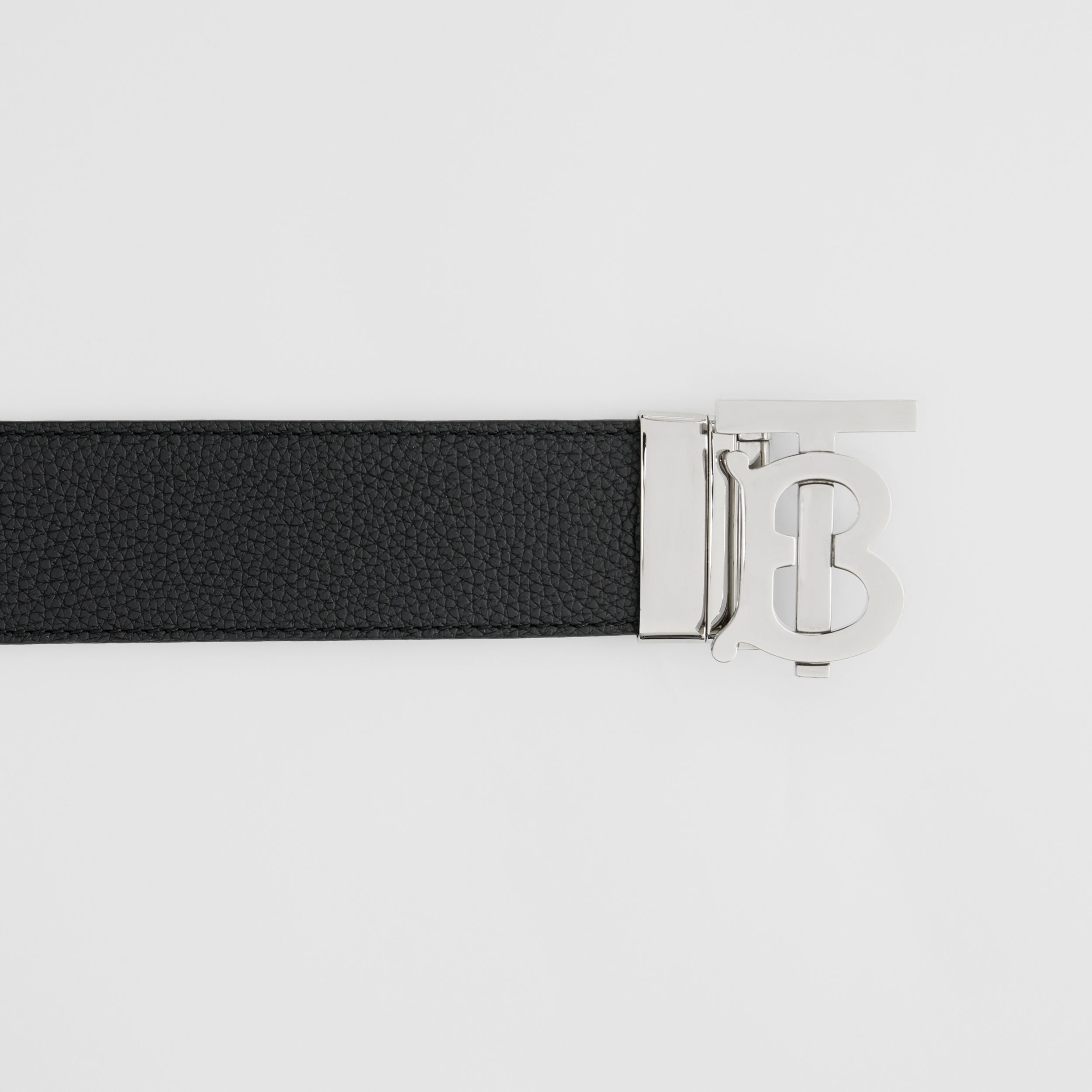 Reversible Monogram Motif Leather Belt in Black/tan - Men | Burberry - 2