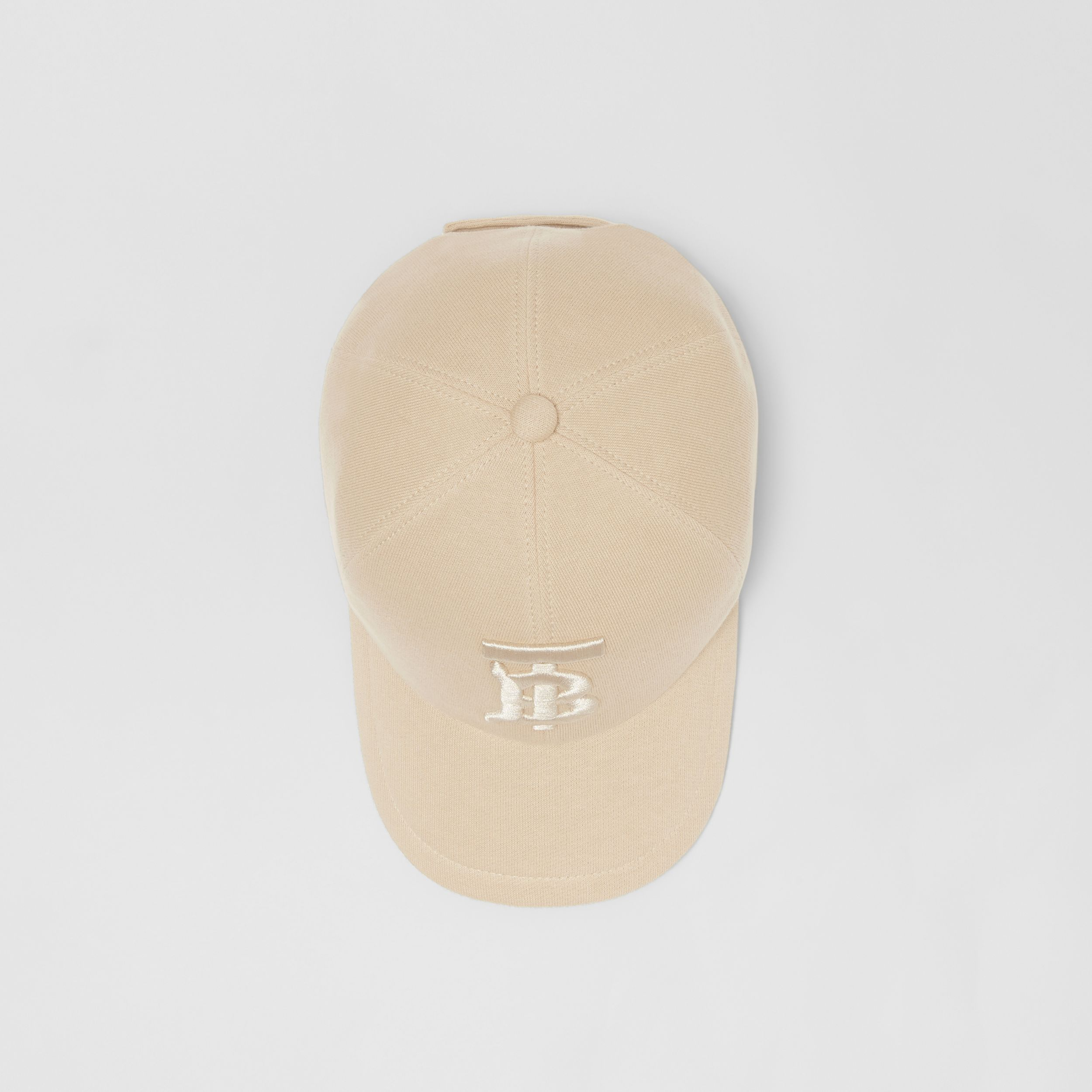 Monogram Motif Jersey Baseball Cap in Soft Fawn | Burberry United Kingdom - 1
