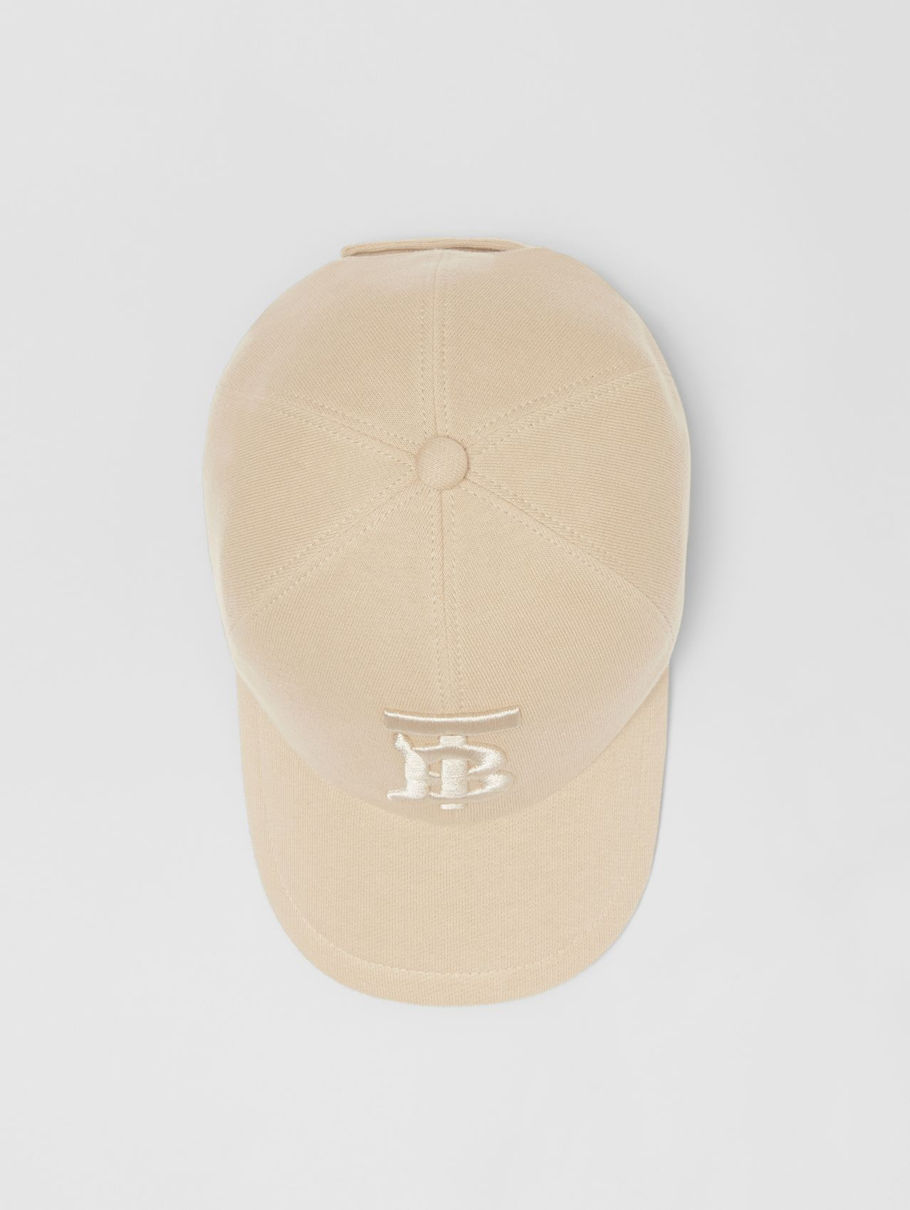 Monogram Motif Jersey Baseball Cap in Soft Fawn