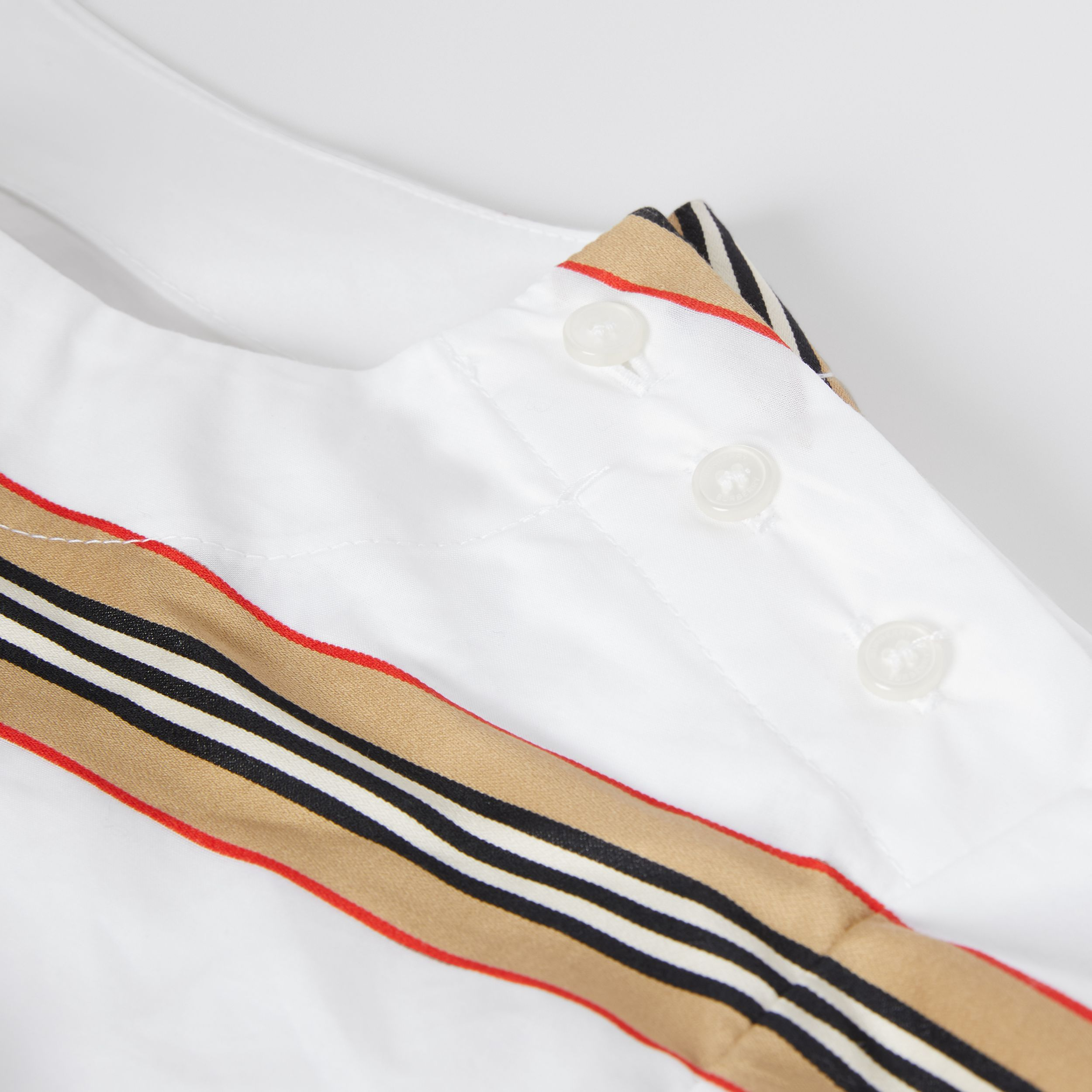 Icon Stripe Cotton Two-piece Set in White | Burberry - 2