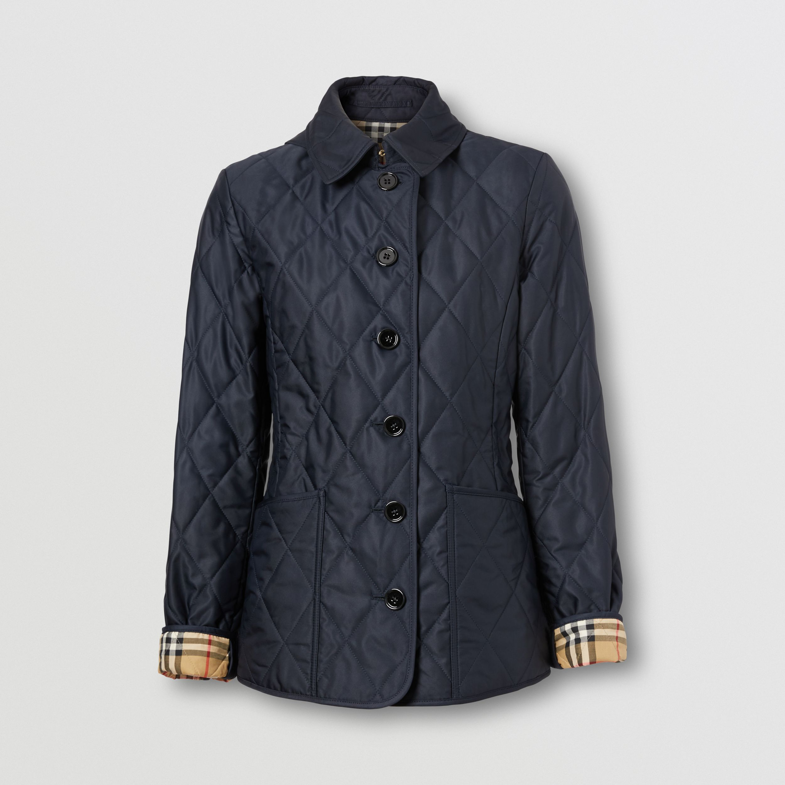 Diamond Quilted Thermoregulated Jacket in Midnight - Women | Burberry Australia - 3
