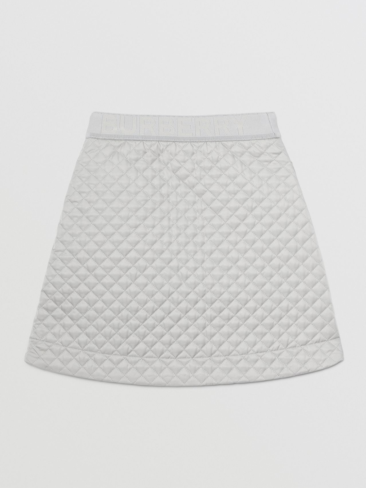 Monogram Quilted Panel Recycled Polyester Skirt in Light Grey