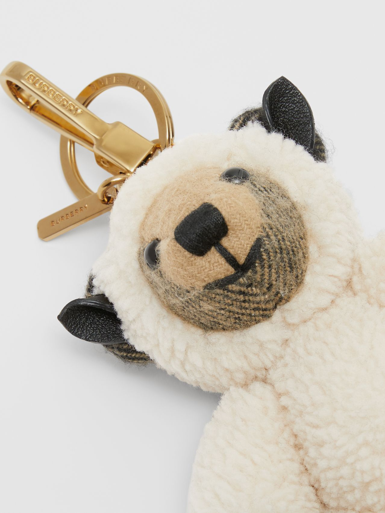 Bijou porte-clés Thomas Bear en costume de mouton in Beige D'archive