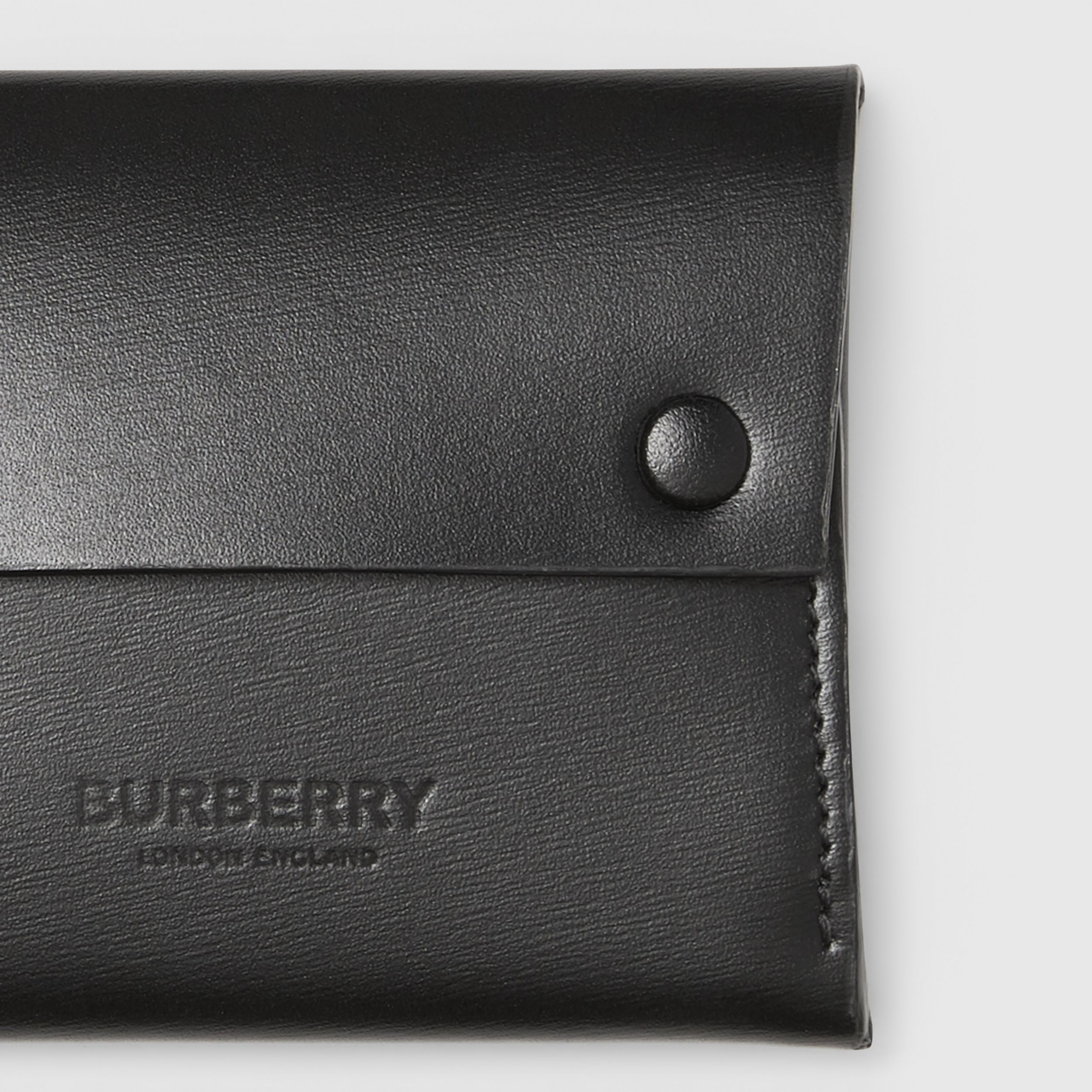 Leather Envelope Card Case in Black - Men | Burberry - 2