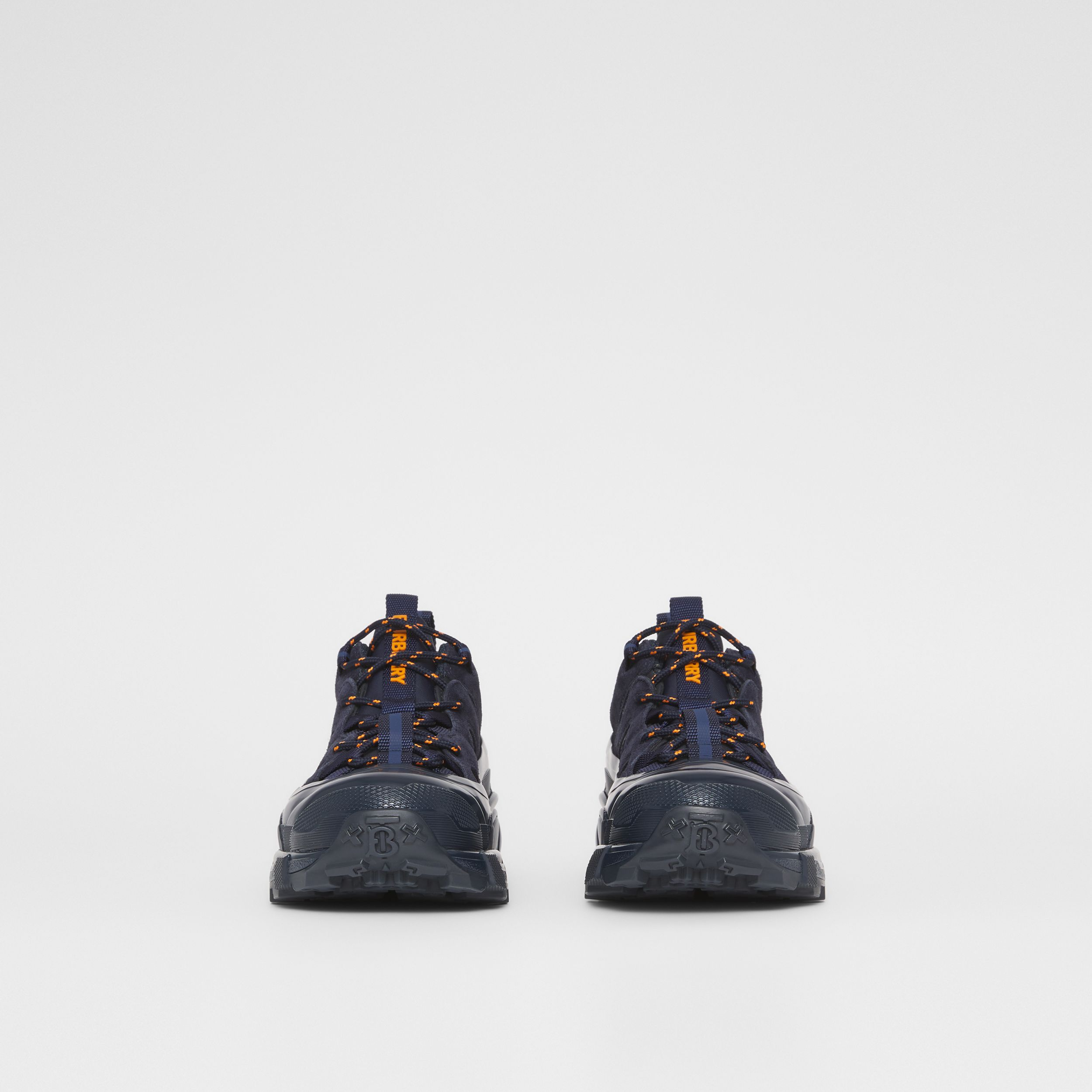 Nylon and Suede Arthur Sneakers – Online Exclusive in Navy - Women | Burberry - 3