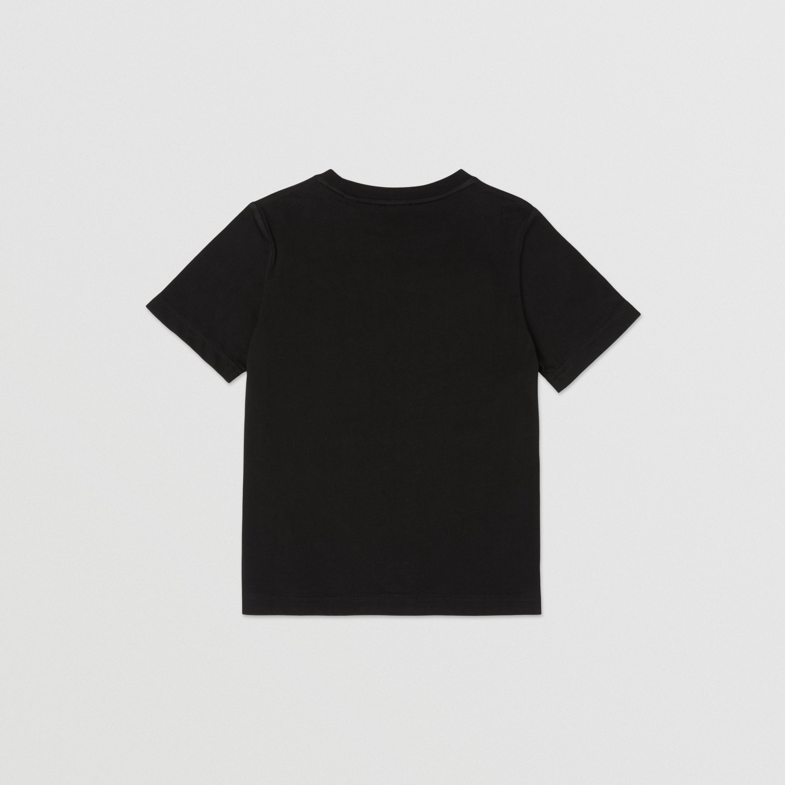 Coordinates Print Cotton T-shirt in Black | Burberry - 4