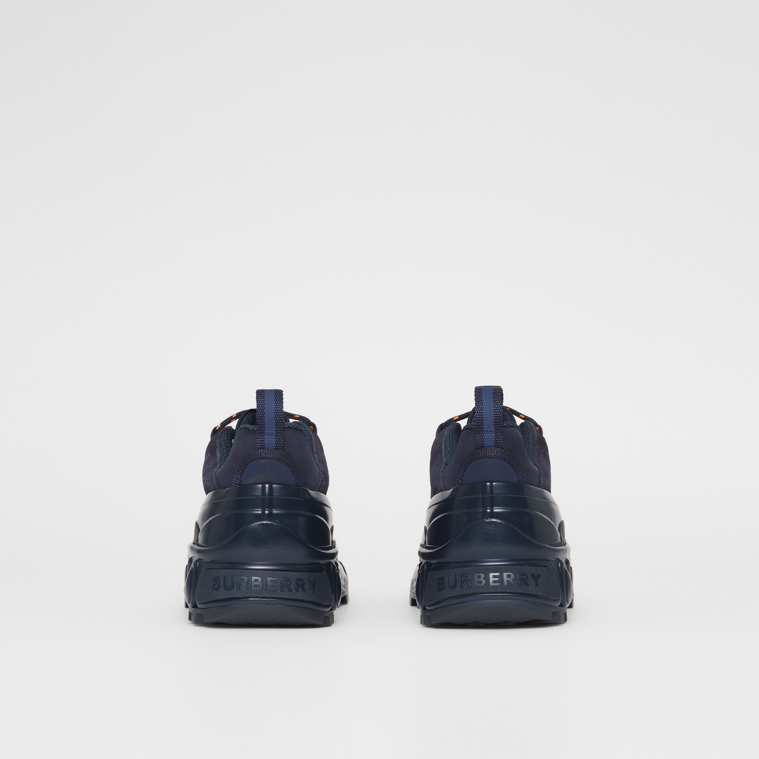 Nylon and Suede Arthur Sneakers – Online Exclusive in Navy - Women | Burberry - 4