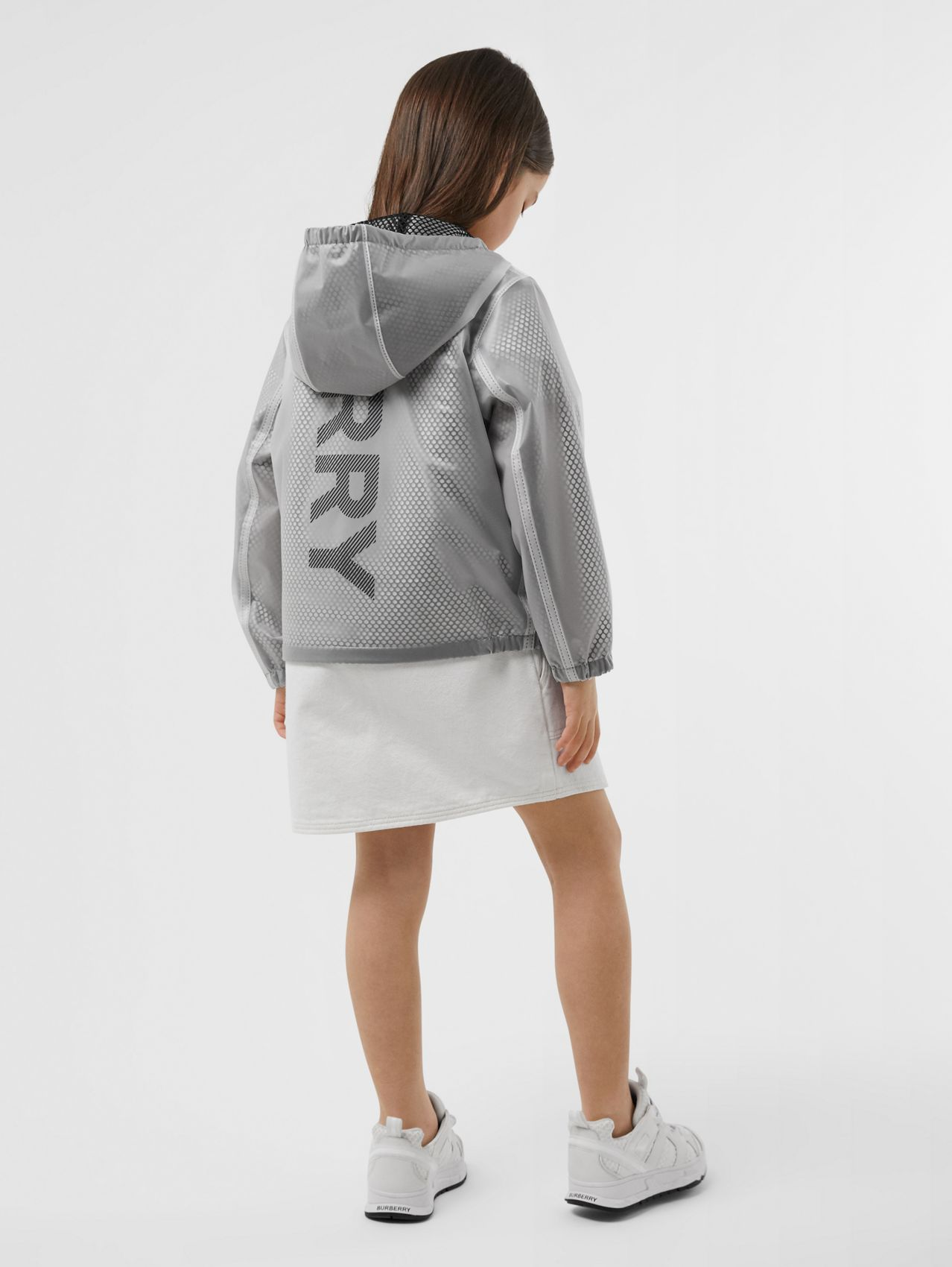 Logo Print Lightweight Hooded Jacket (Clear)