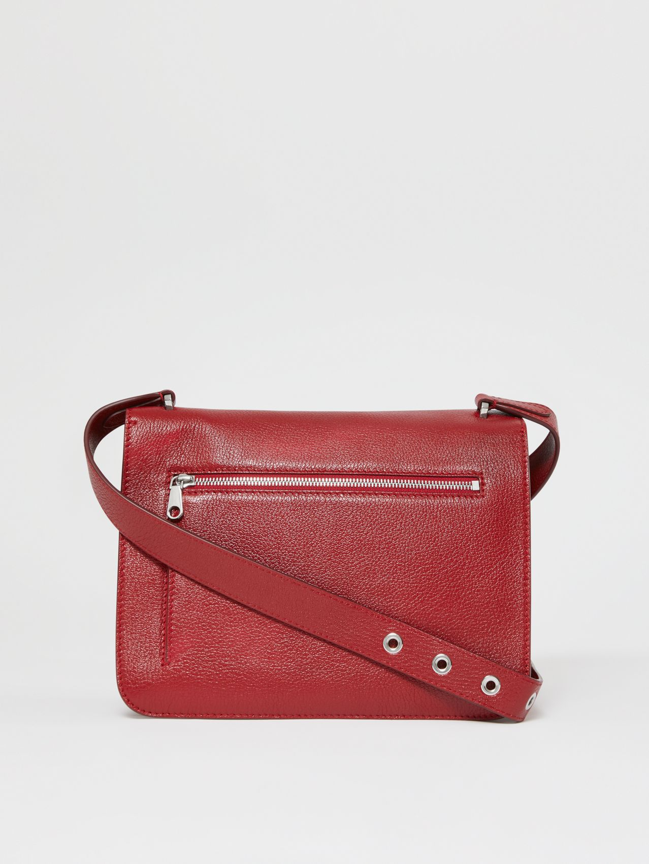 Medium Grainy Leather Alice Bag in Dark Carmine