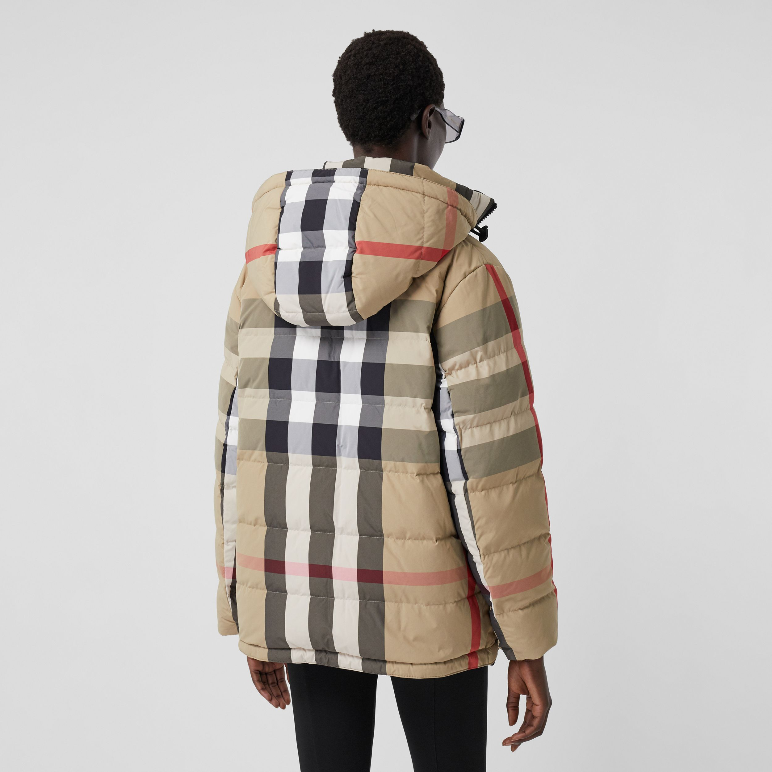 Reversible Recycled Nylon Re:Down® Puffer Jacket in Archive Beige - Women | Burberry - 3