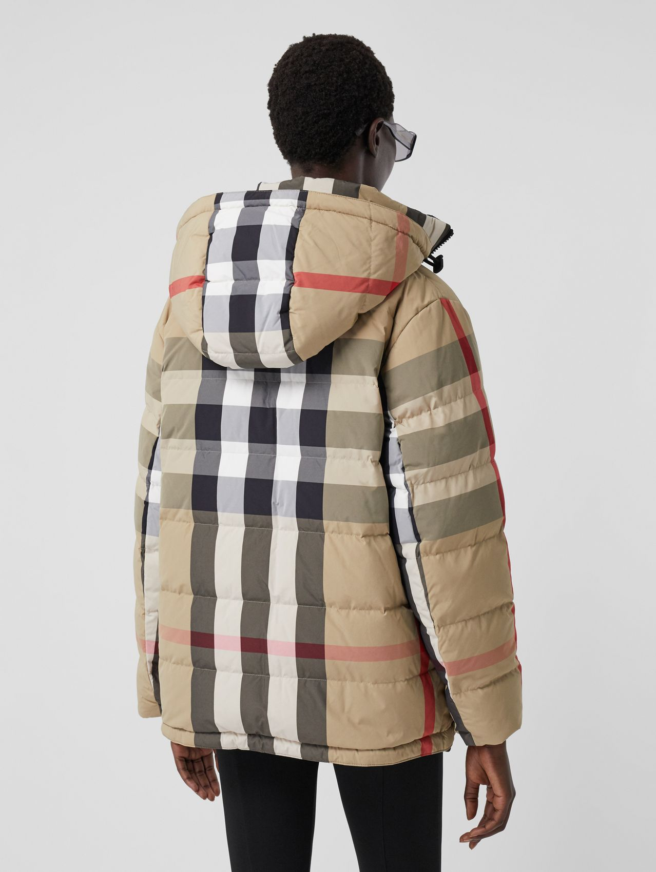 Reversible Recycled Nylon Re:Down® Puffer Jacket in Archive Beige