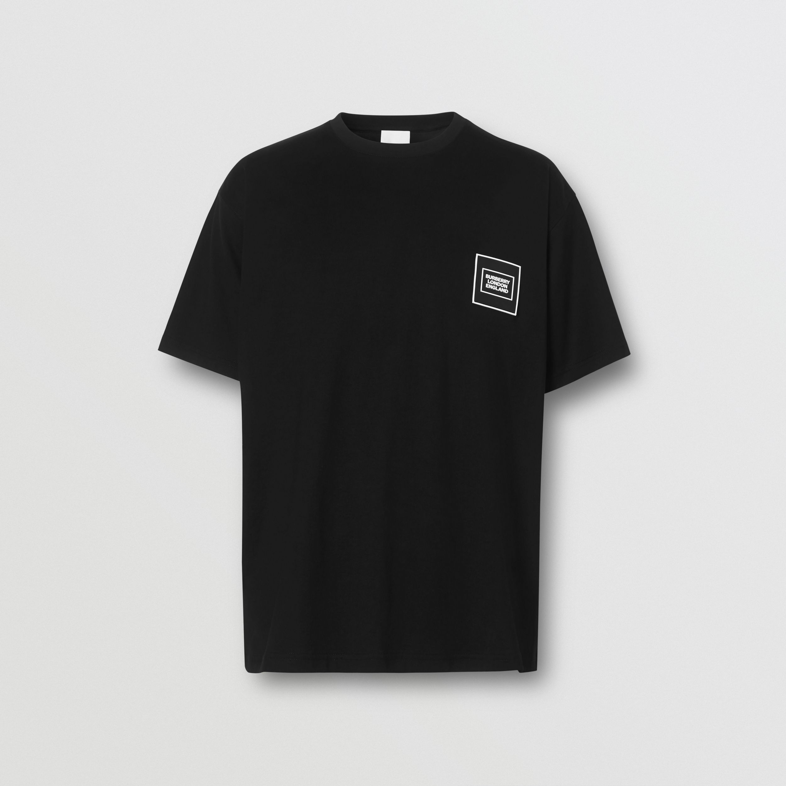 Logo Appliqué Cotton T-shirt in Black - Men | Burberry - 4