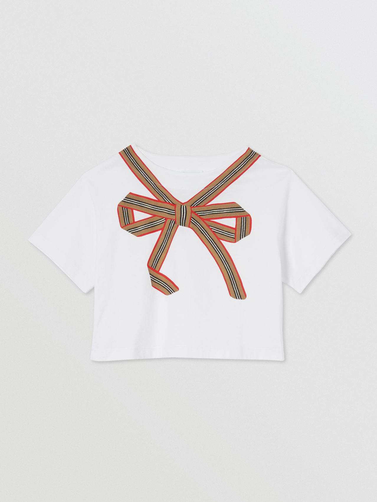 Icon Stripe Bow Cotton T-shirt