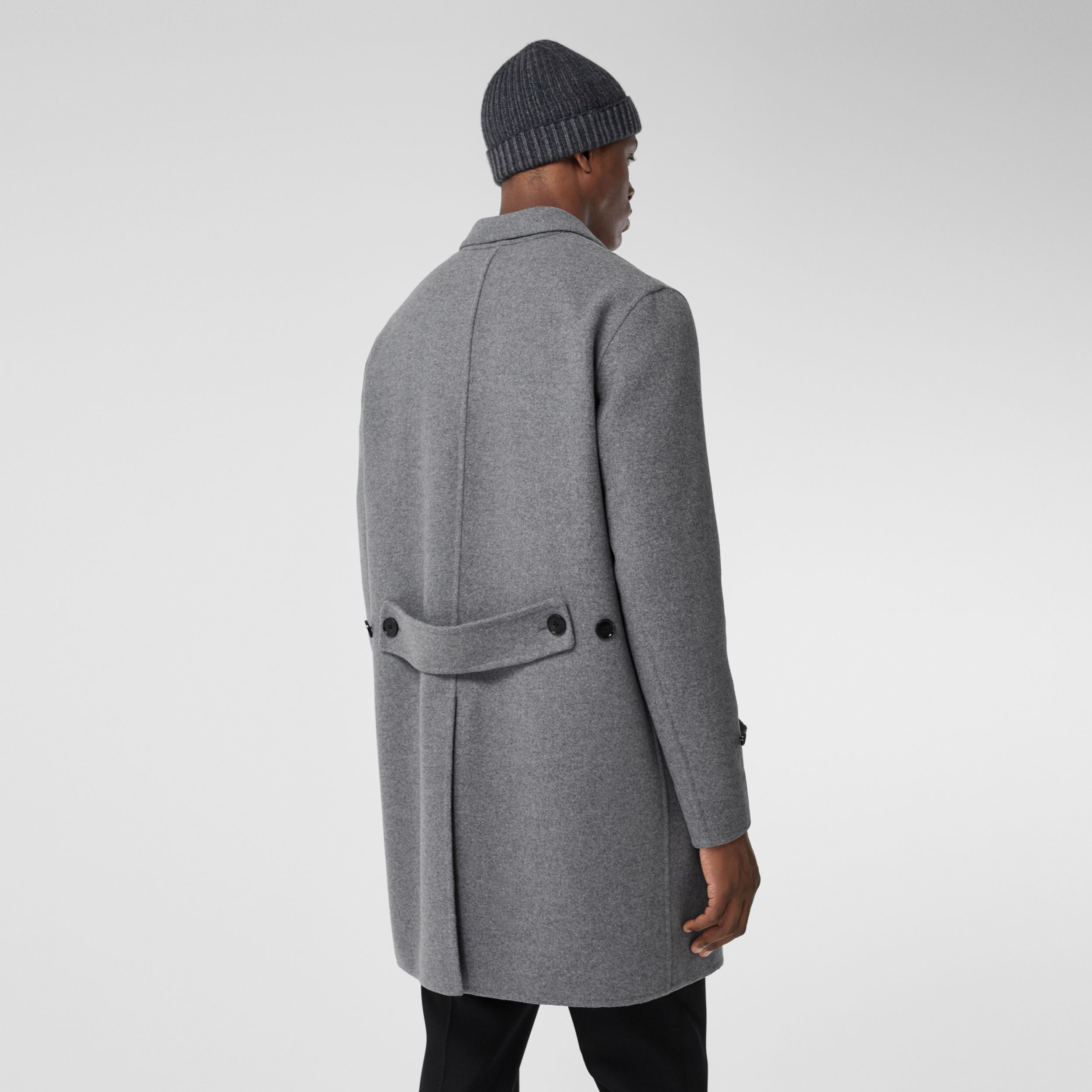 Wool Cashmere Lab Coat in Charcoal - Men | Burberry - 3