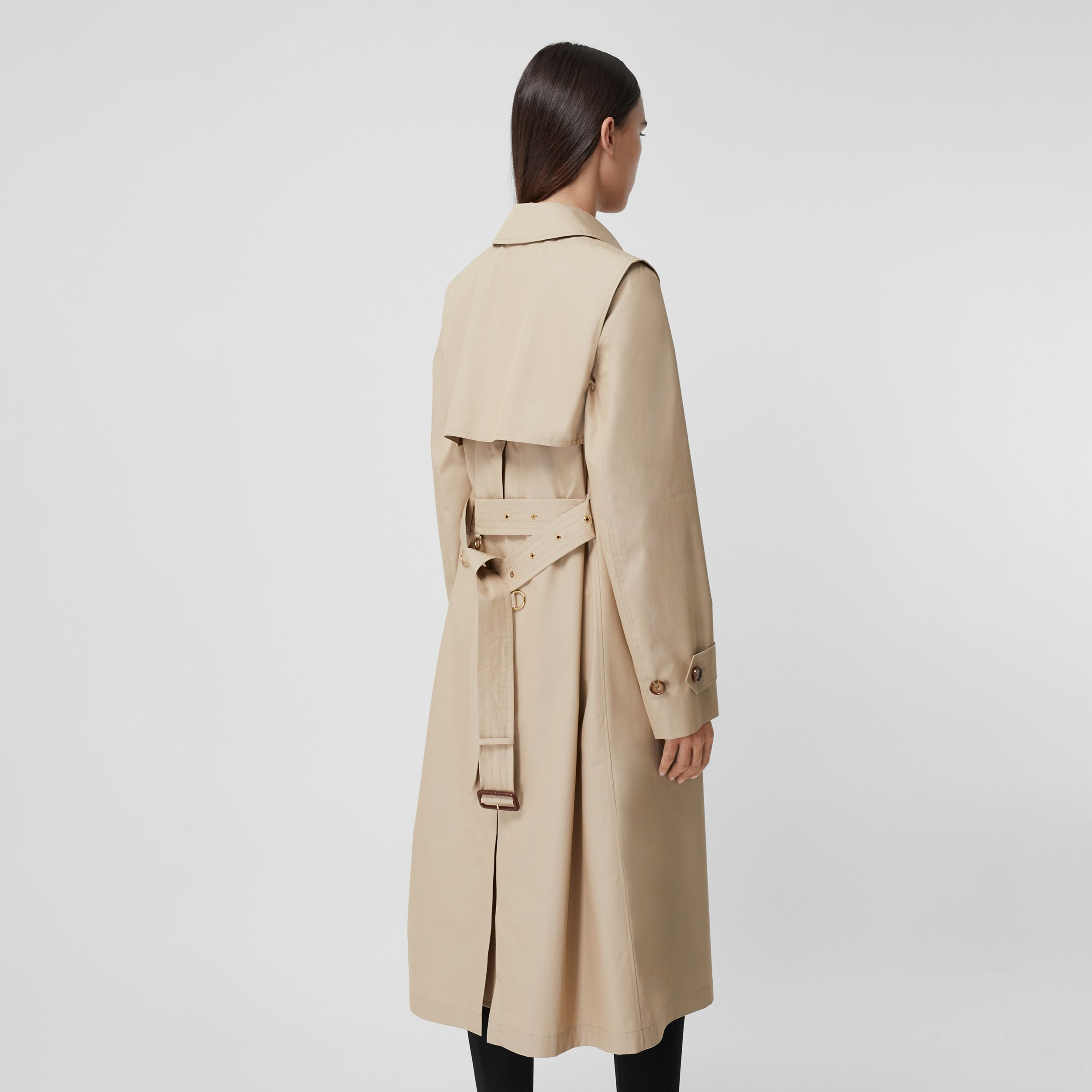 Technical Cotton Gabardine Trench Coat in Soft Fawn - Women | Burberry - 3