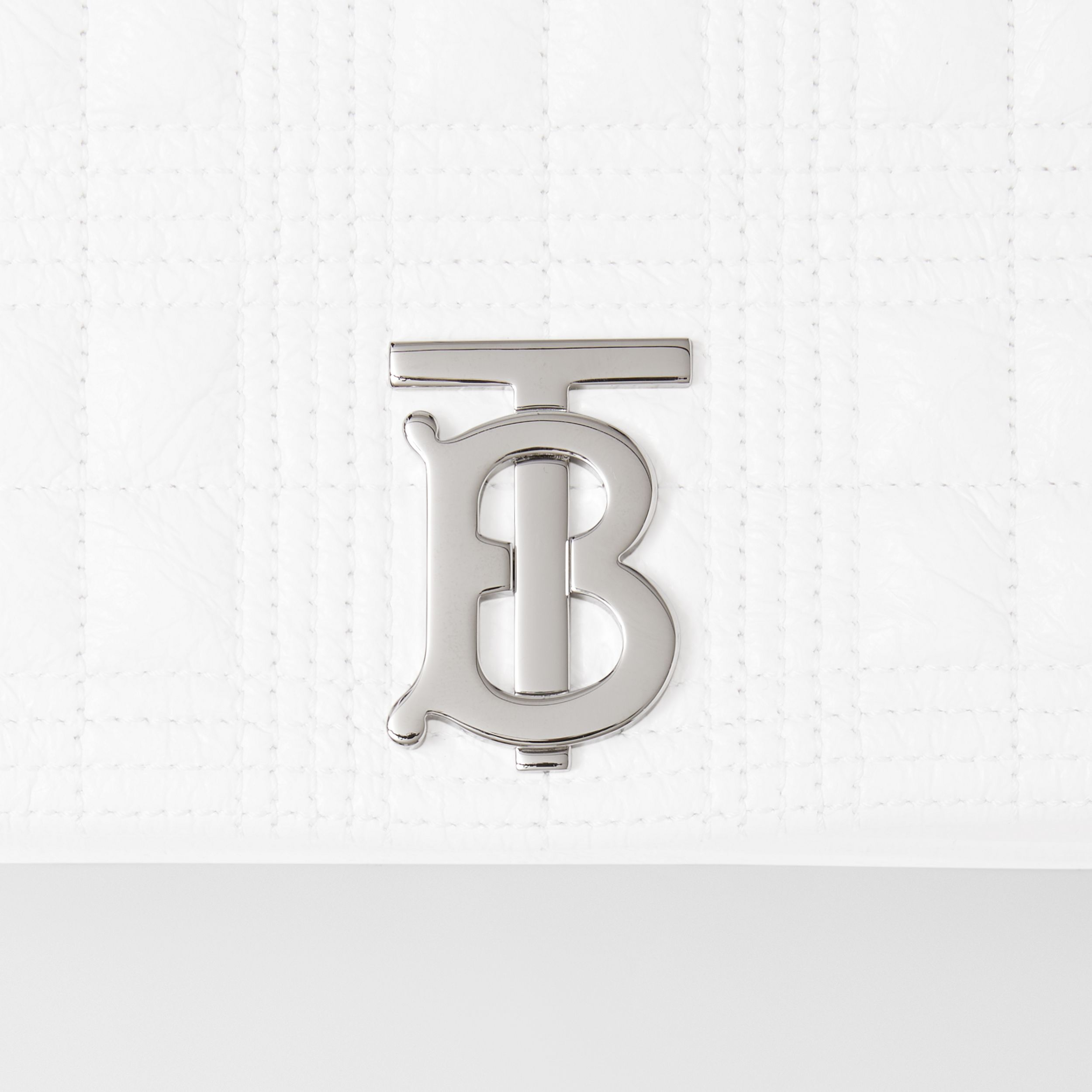 Small Quilted Lambskin Lola Bag in Optic White - Women | Burberry - 2