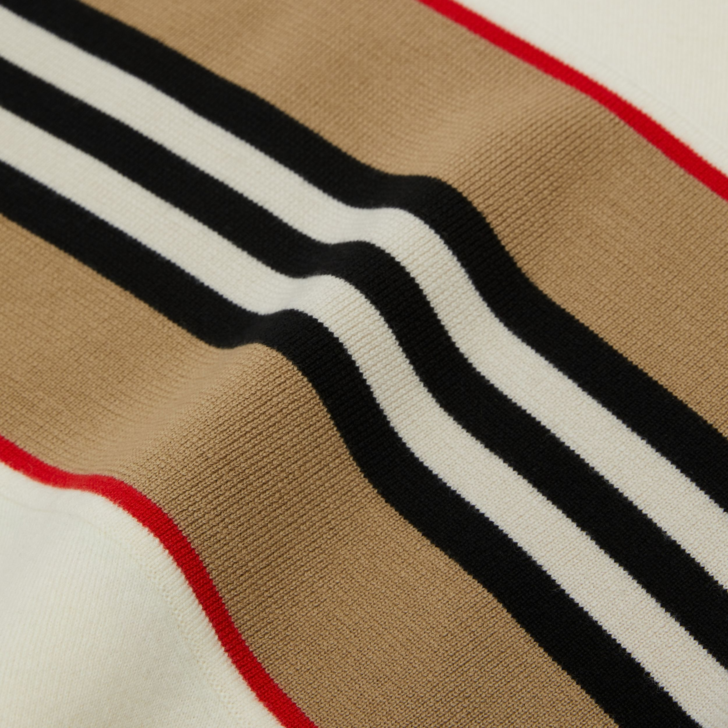 Icon Stripe Panel Wool Cashmere Blend Poncho | Burberry - 2