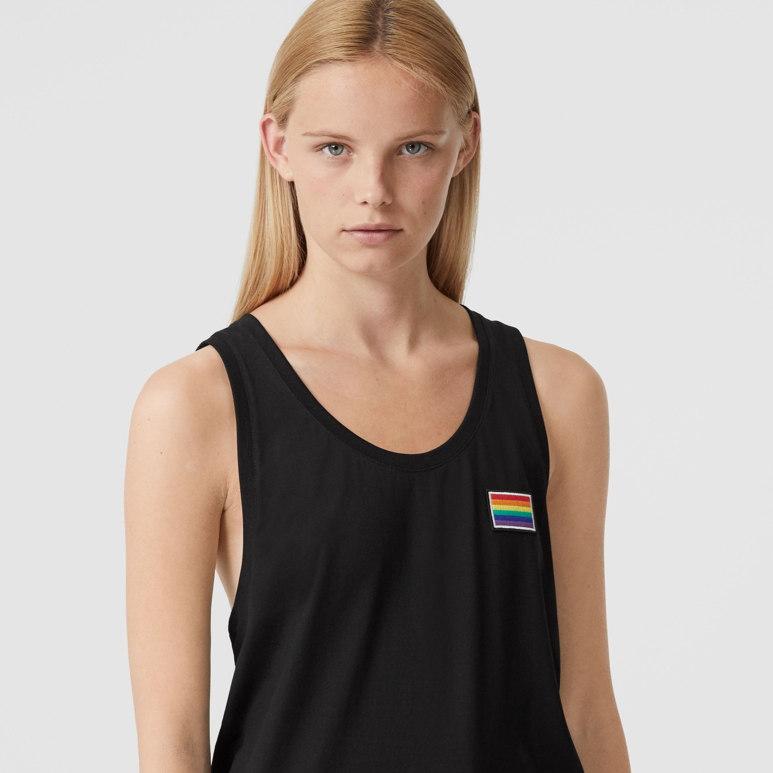 Rainbow Appliqué Cotton Vest – Unisex in Black | Burberry - 2