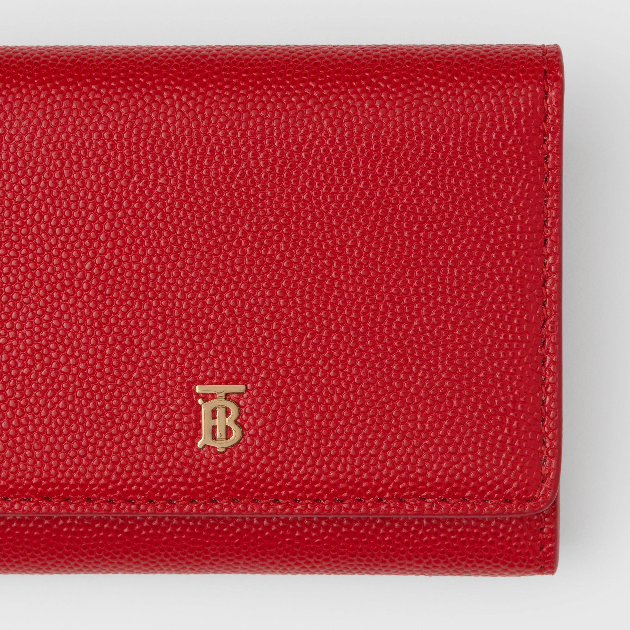 Grainy Leather ID Card Case in Bright Red - Women | Burberry - 2