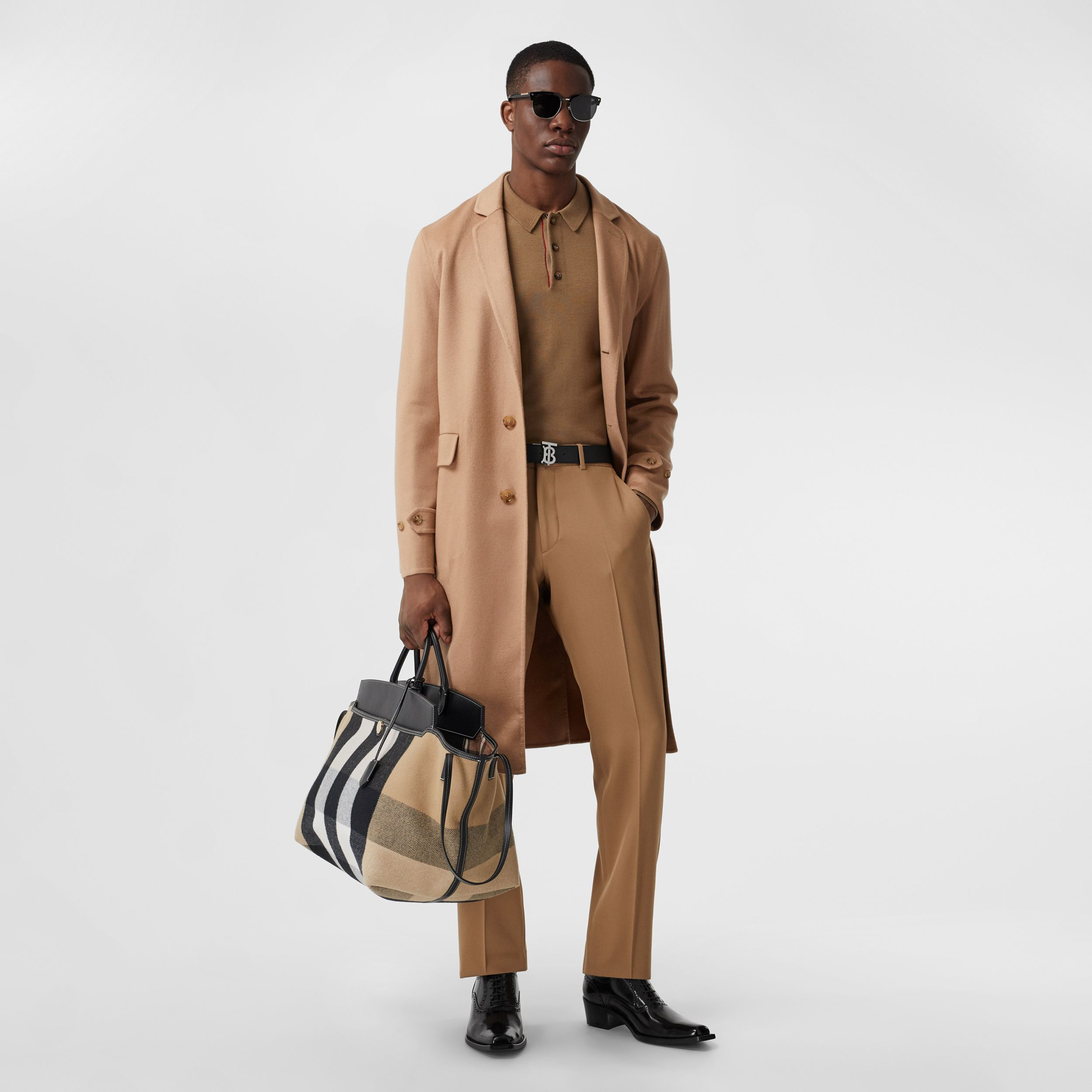 Double-faced Regenerated Cashmere Lab Coat in Camel - Men | Burberry - 1