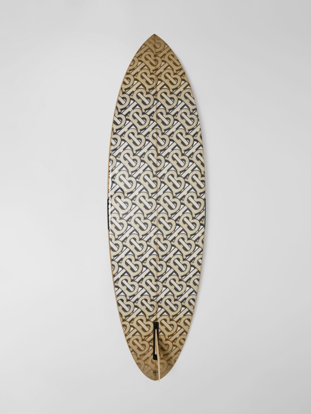 Monogram Print Surfboard in Dark Beige
