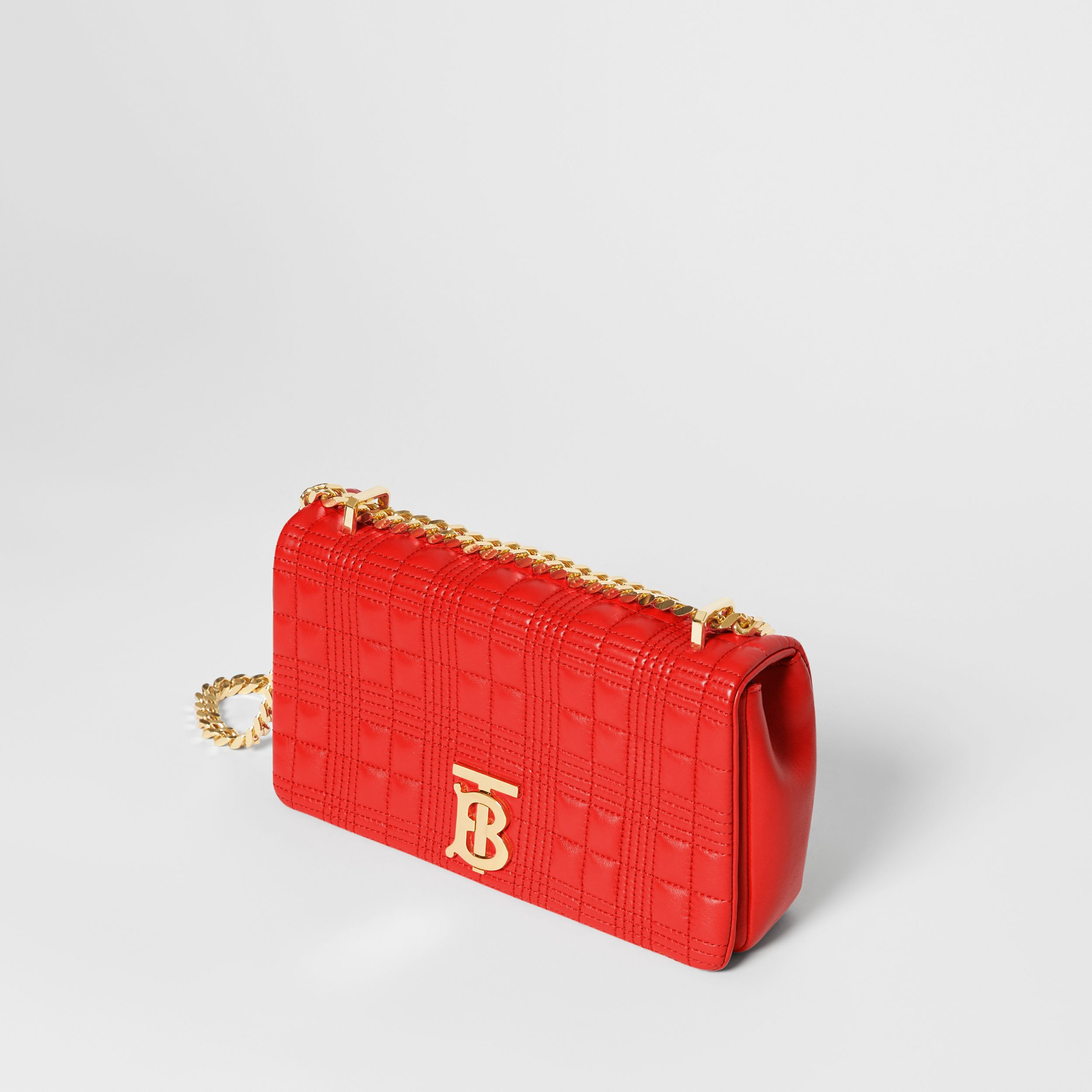 Small Quilted Lambskin Lola Bag in Bright Red - Women | Burberry - 4