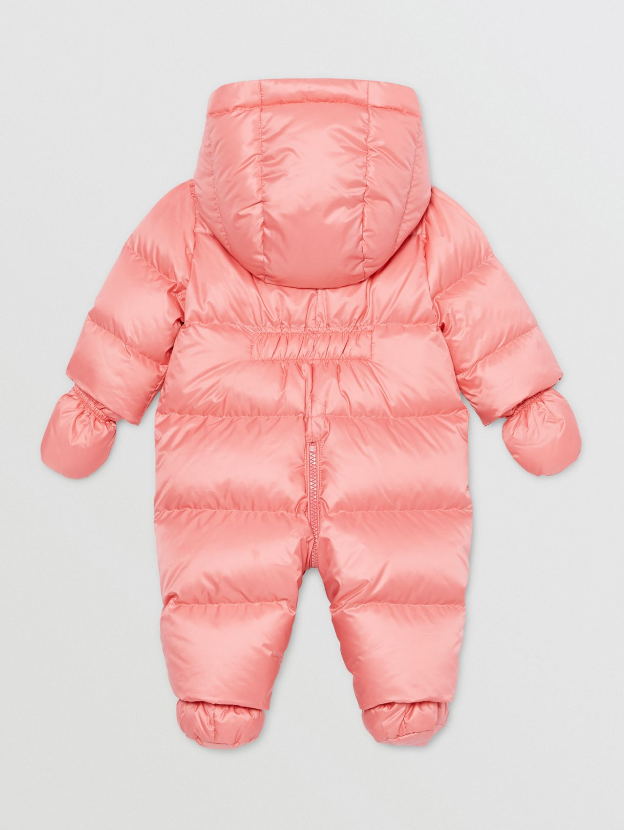 Logo Appliqué Puffer Suit in Peach