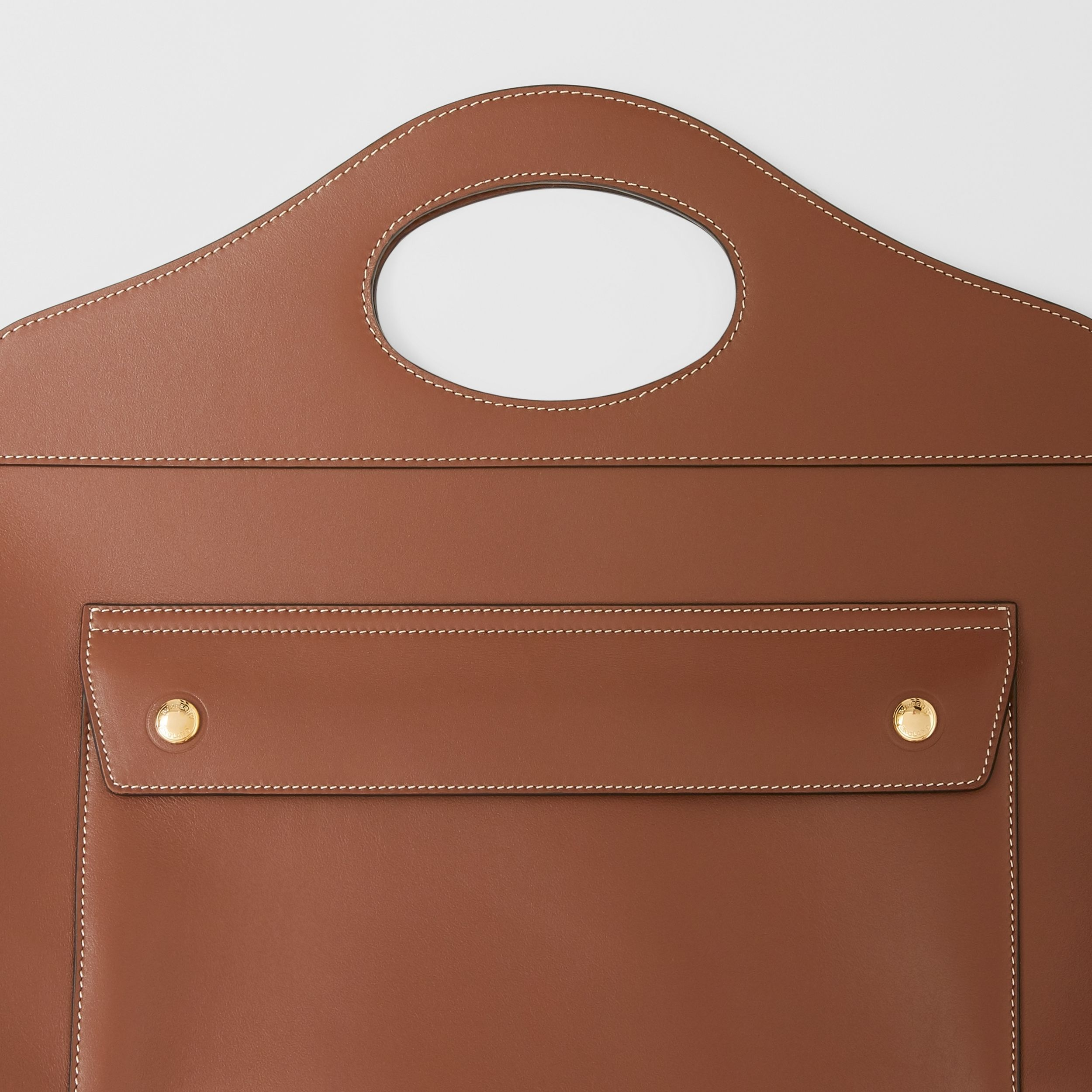 Medium Leather Soft Pocket Tote in Tan - Women | Burberry - 2