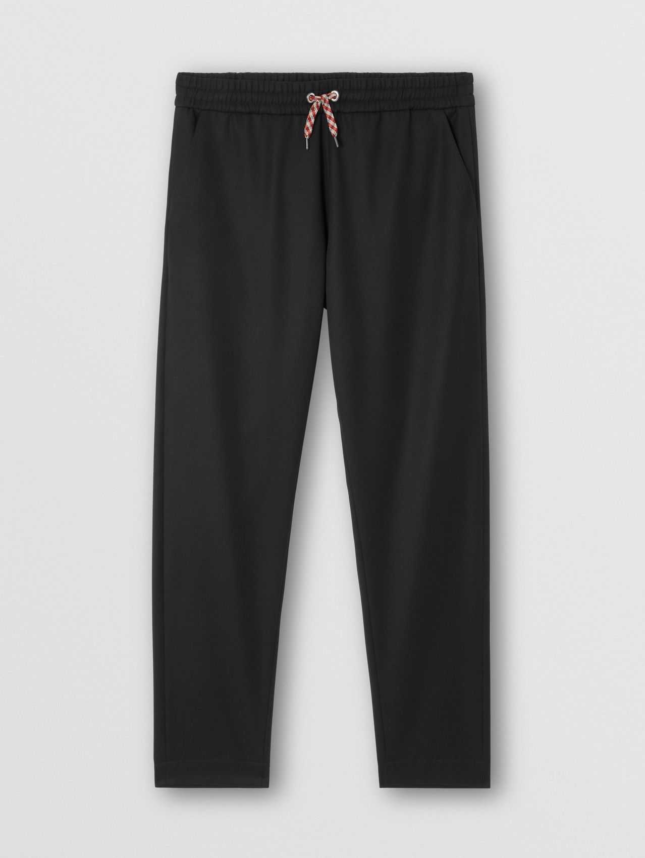 Monogram Motif Wool Jogging Pants in Black
