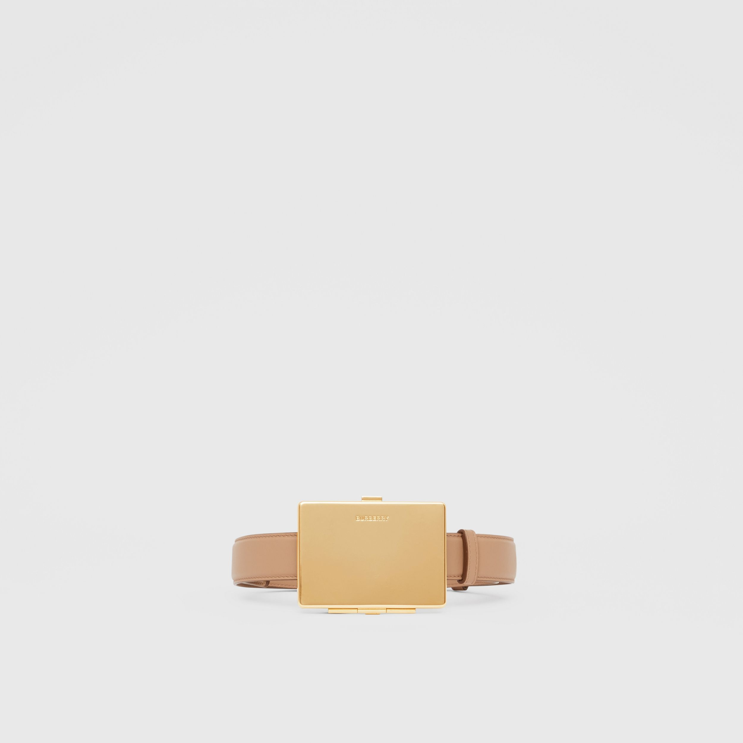 Card Case Detail Leather Belt in Biscuit - Women | Burberry - 4