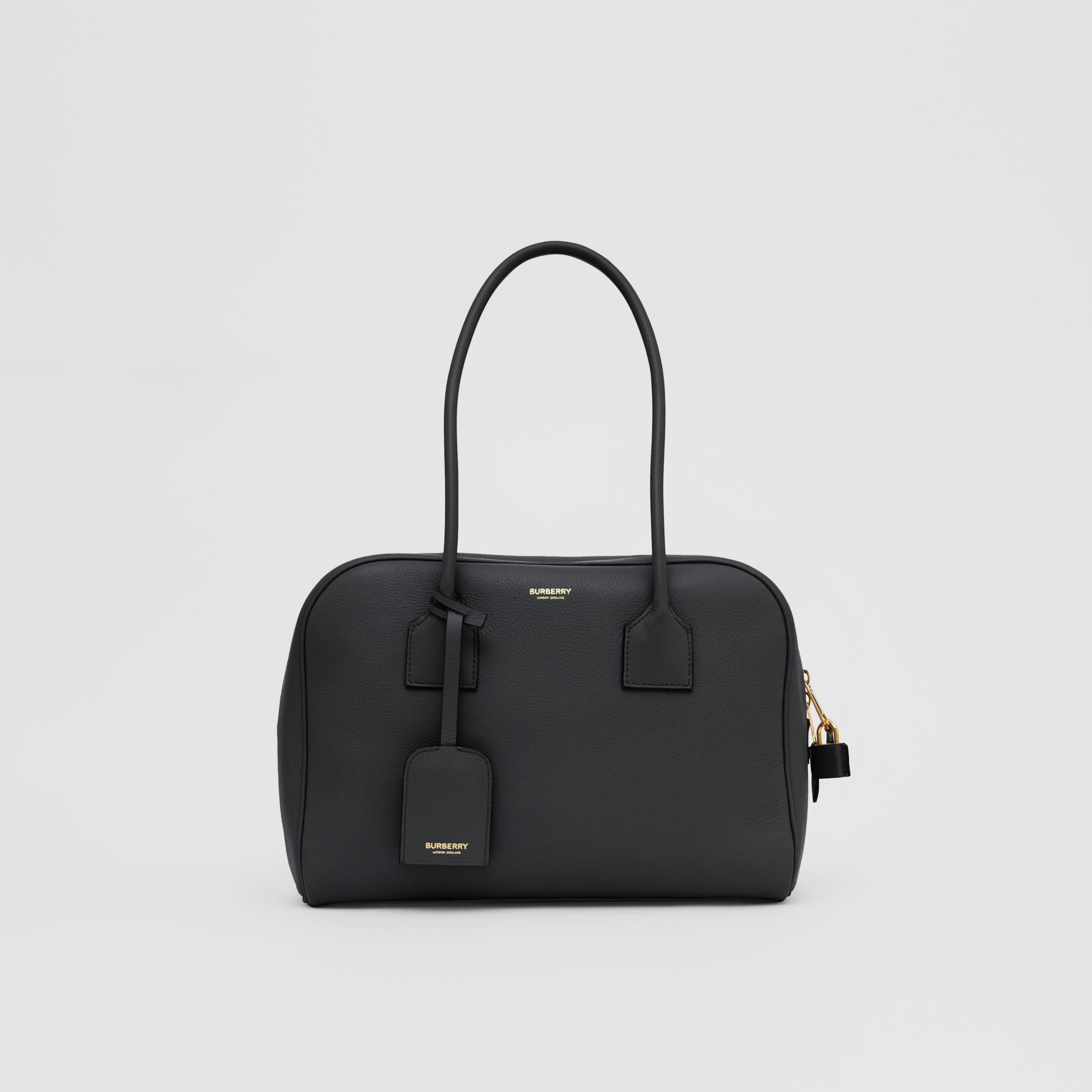Medium Leather Half Cube Bag in Black - Women | Burberry Australia - 1