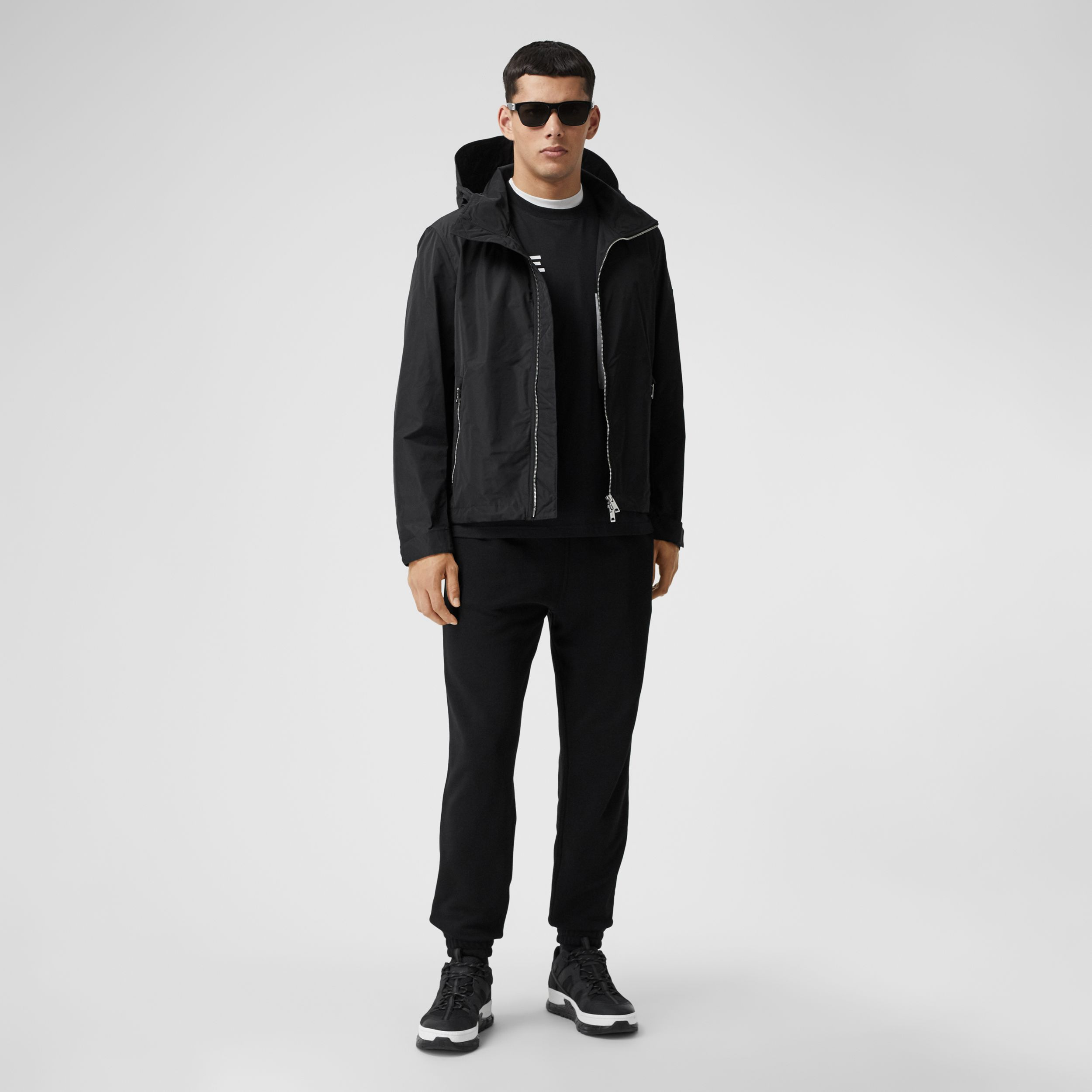 Packaway Hood Shape-memory Taffeta Jacket in Black - Men | Burberry - 1